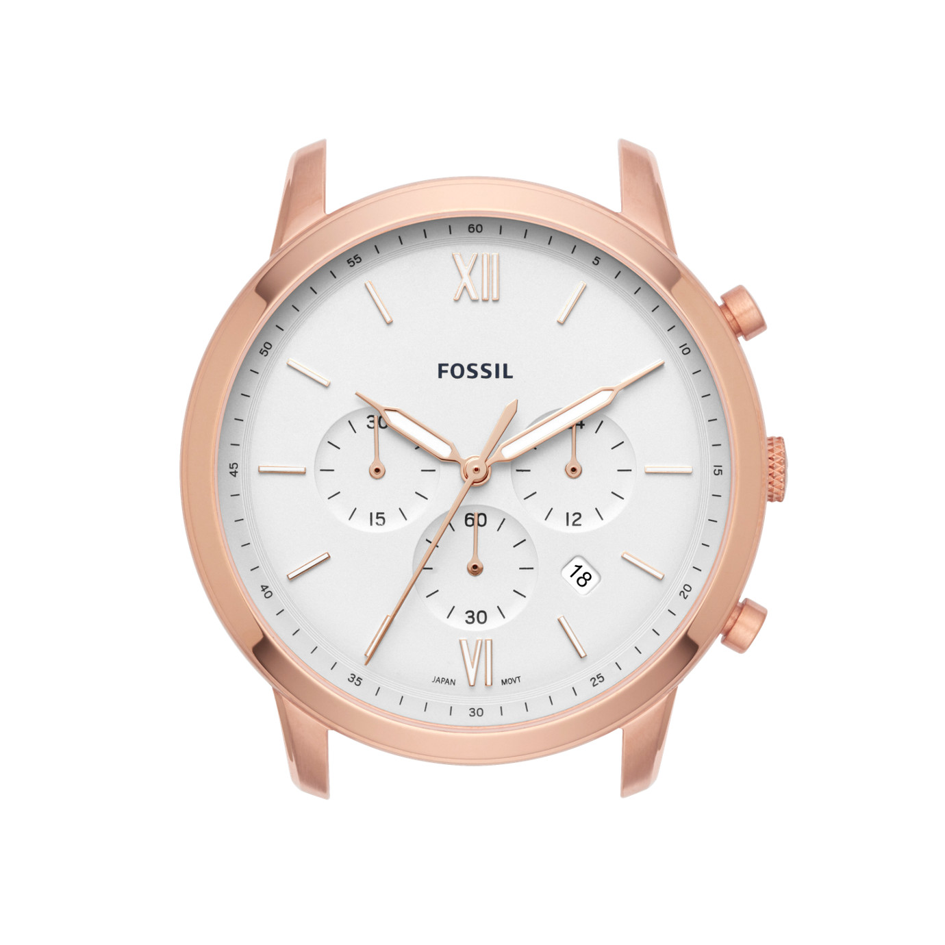 Neutra Chronograph Rose Gold-Tone Stainless Steel Watch Case
