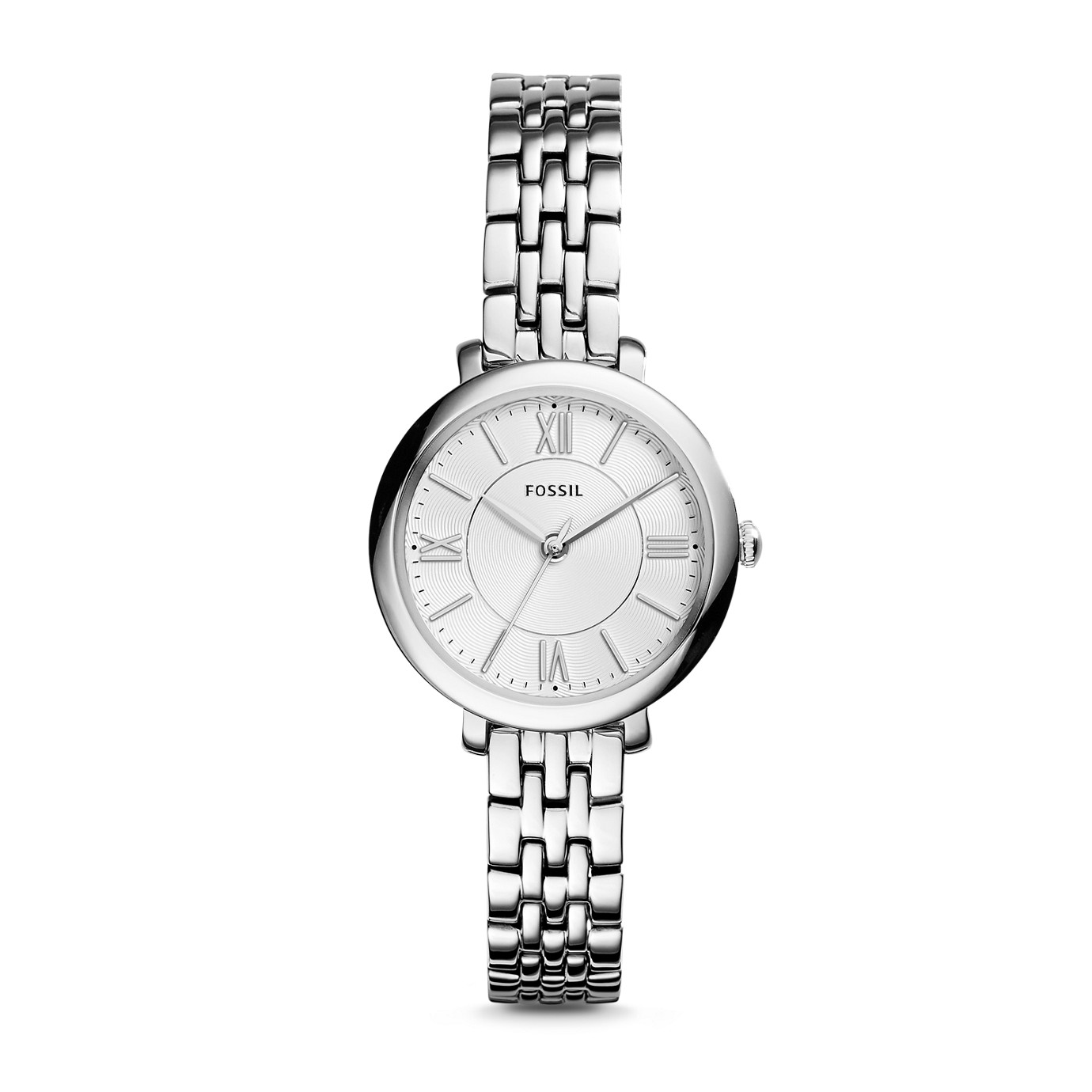 Jacqueline Small Three-Hand Stainless Steel Watch