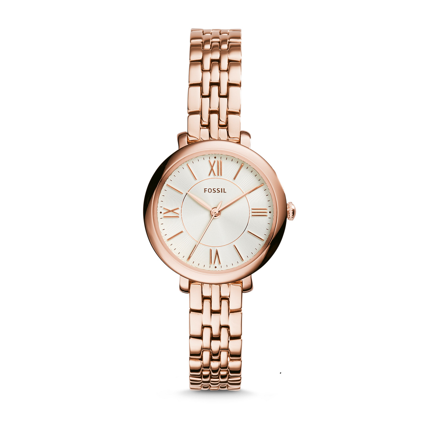 Jacqueline Small Three-Hand Stainless Steel Watch – Rose
