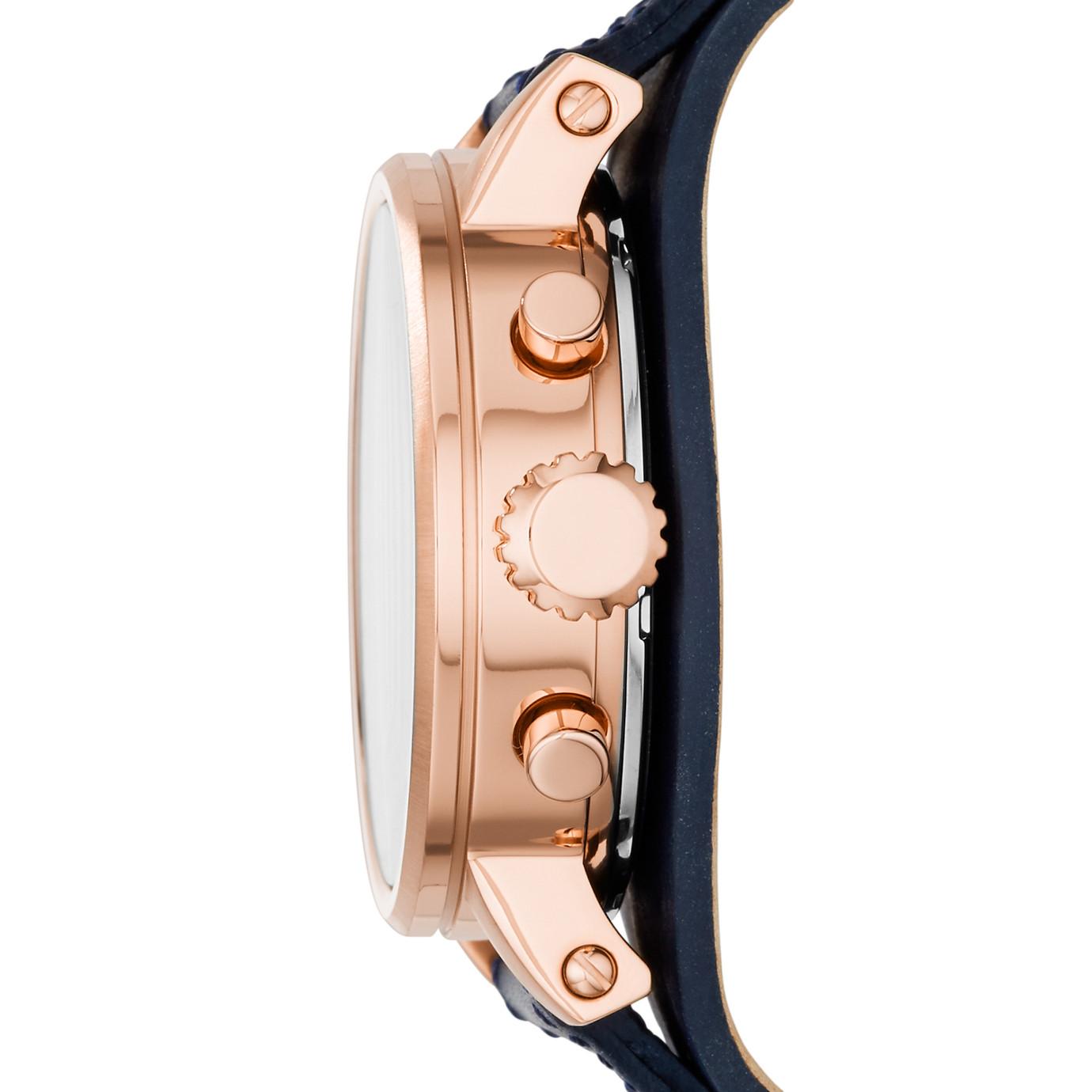 Original Boyfriend Chronograph Leather Watch – Blue