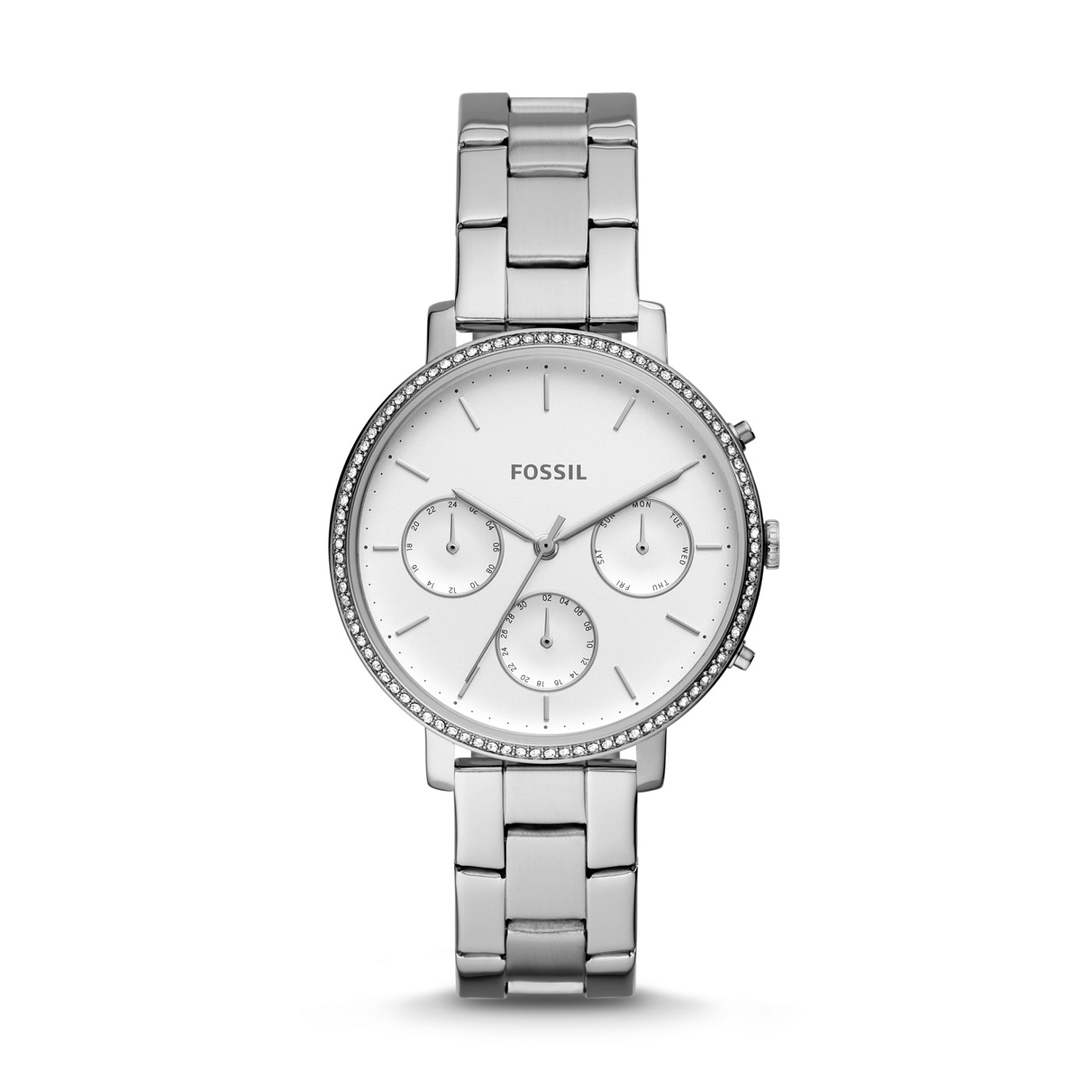 Sylvia Multifunction Stainless Steel Watch