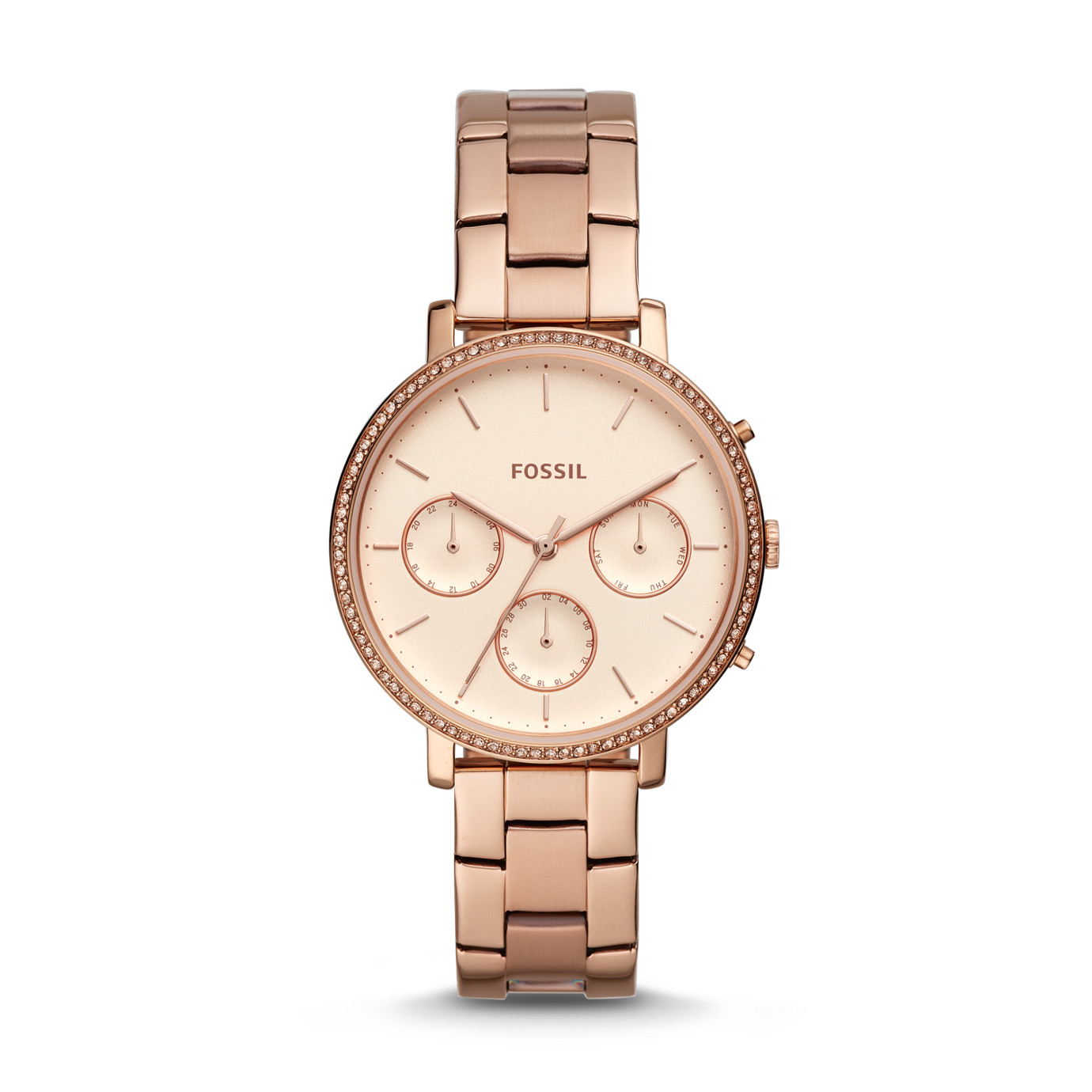 Sylvia Multifunction Rose Gold-Tone Stainless Steel Watch