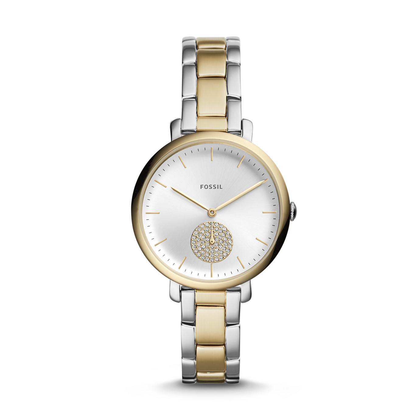 Jacqueline Three-Hand Two-Tone Stainless Steel Watch