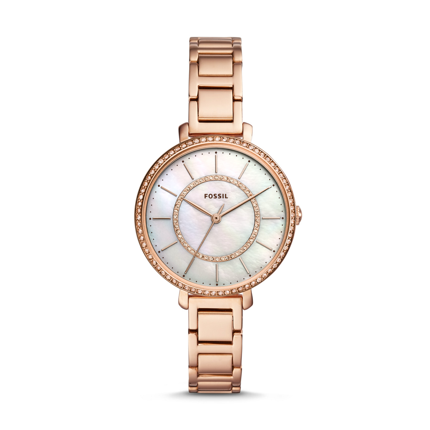 Jocelyn Three-Hand Rose Gold-Tone Stainless Steel Watch