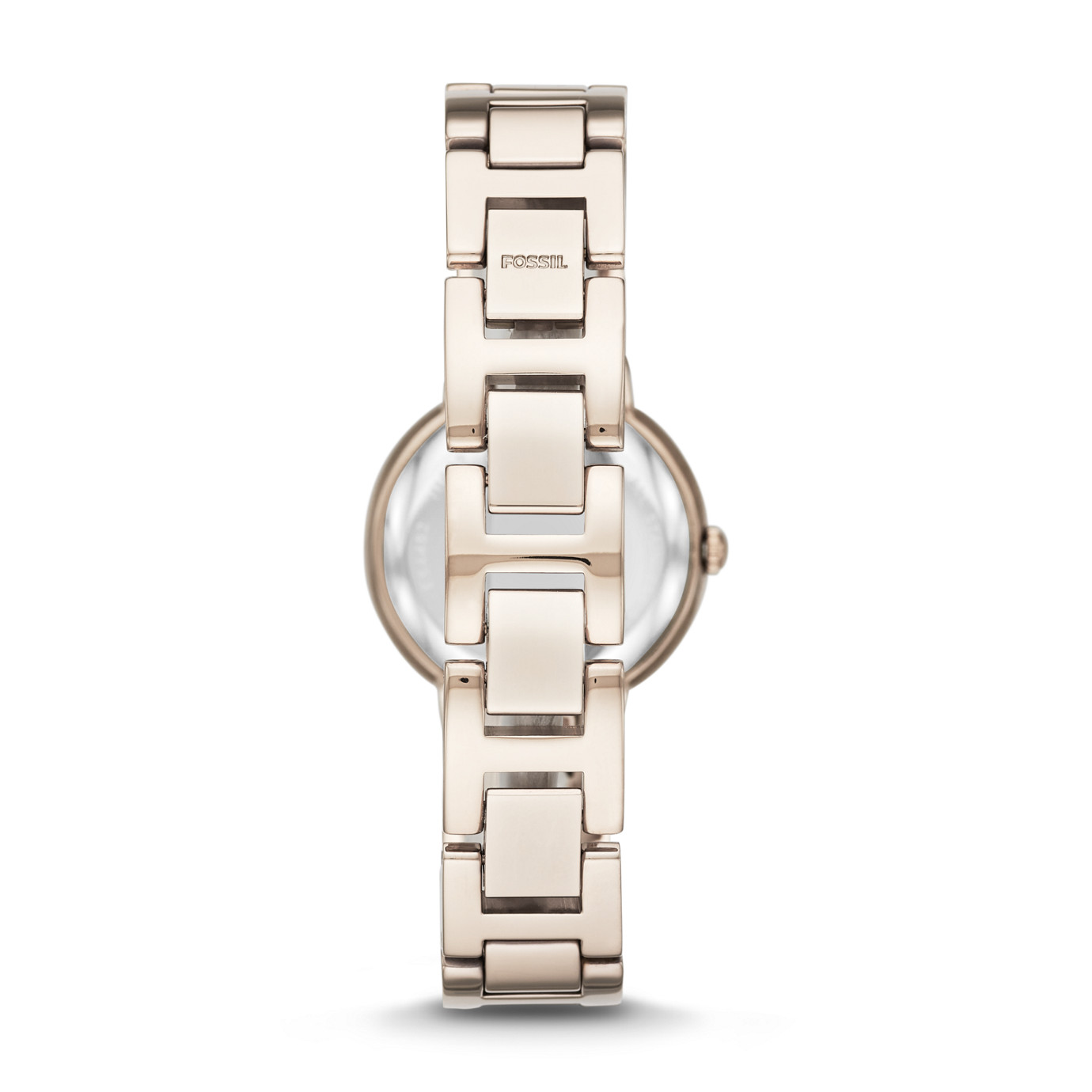 Virginia Three Hand Pastel Pink Stainless Steel Watch
