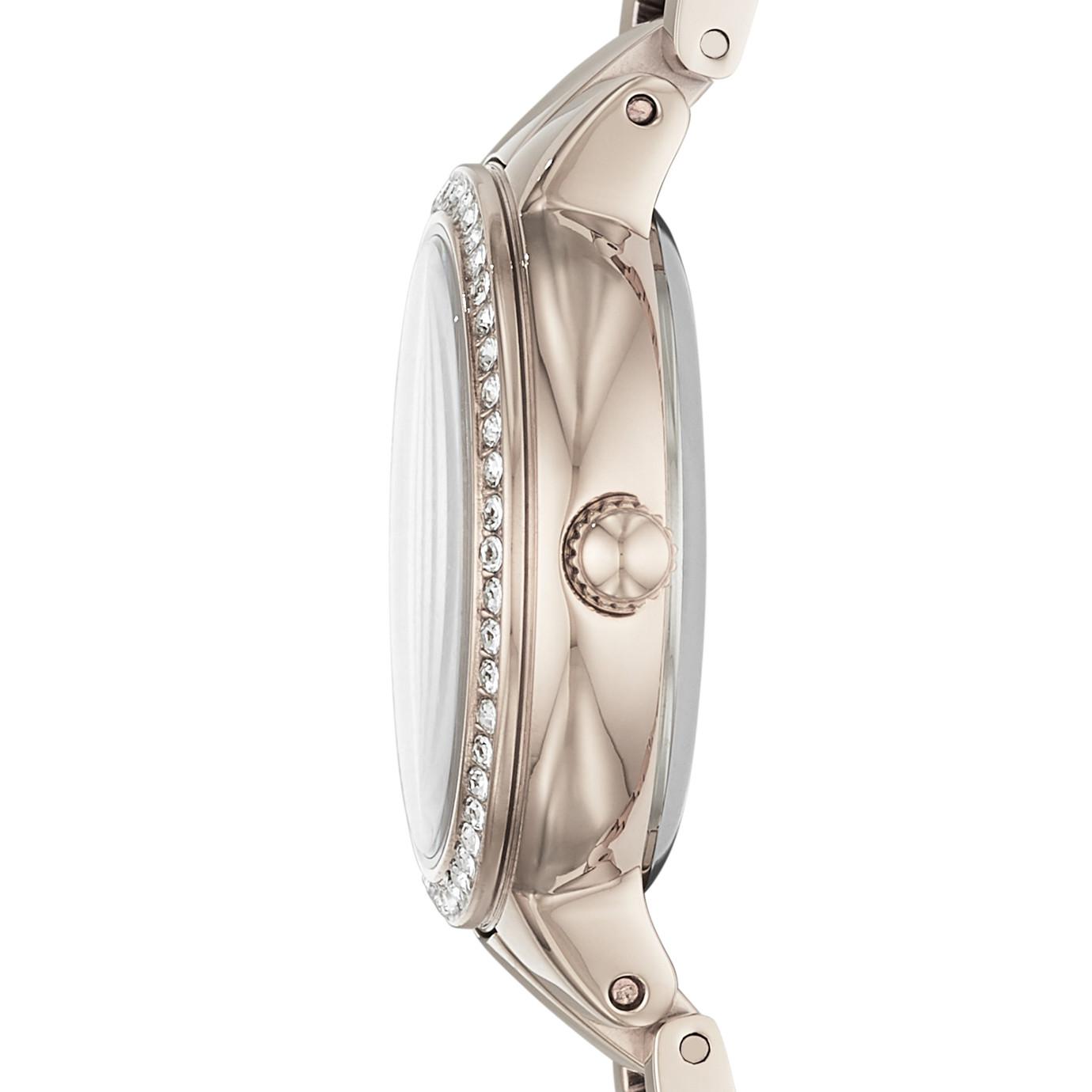 Virginia 系列三指針淡粉紅不鏽鋼手錶