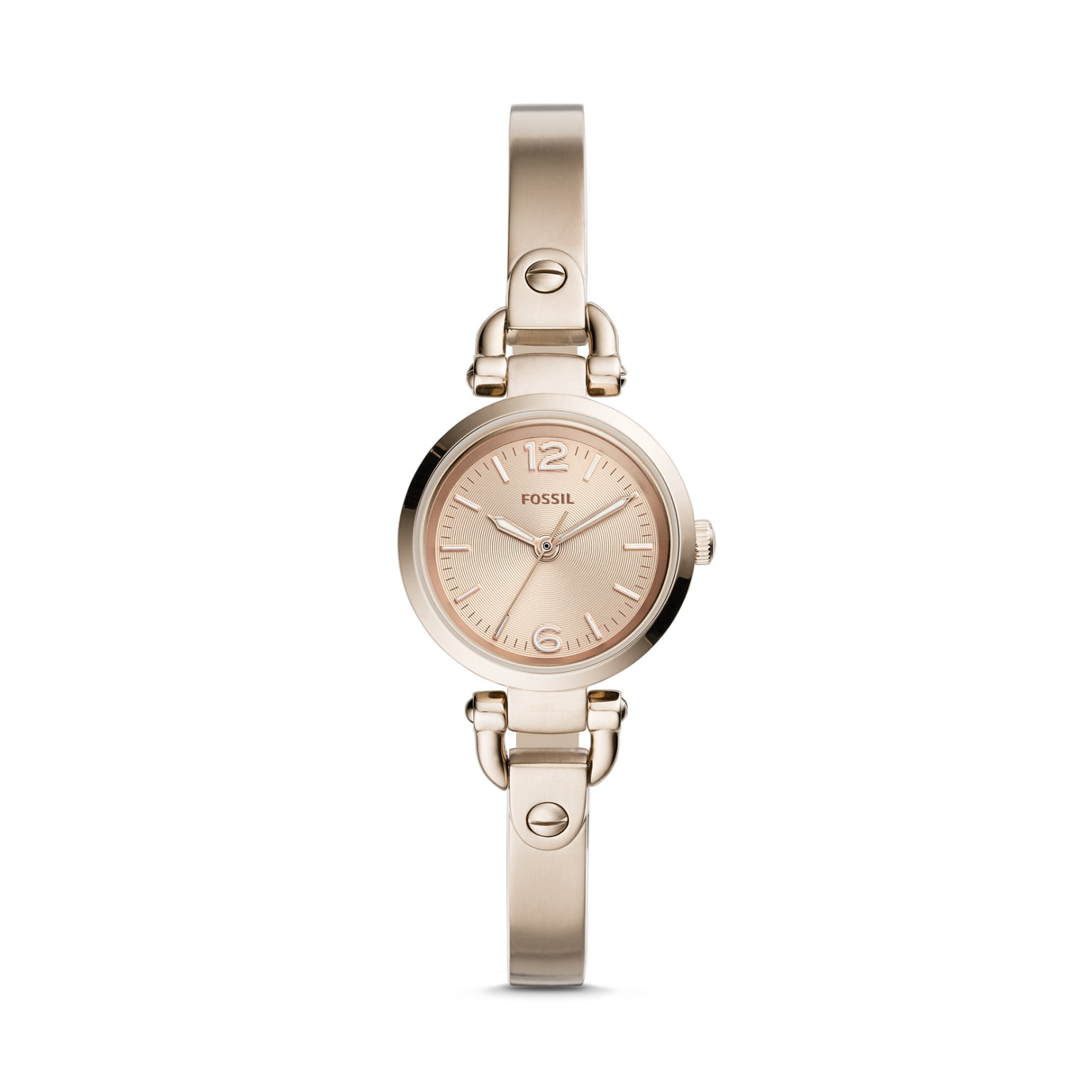 Georgia Mini Three-Hand Pastel Pink Stainless Steel Watch