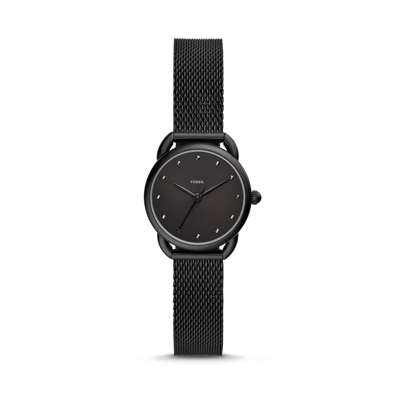 Tailor Three-Hand Black Stainless Steel Watch