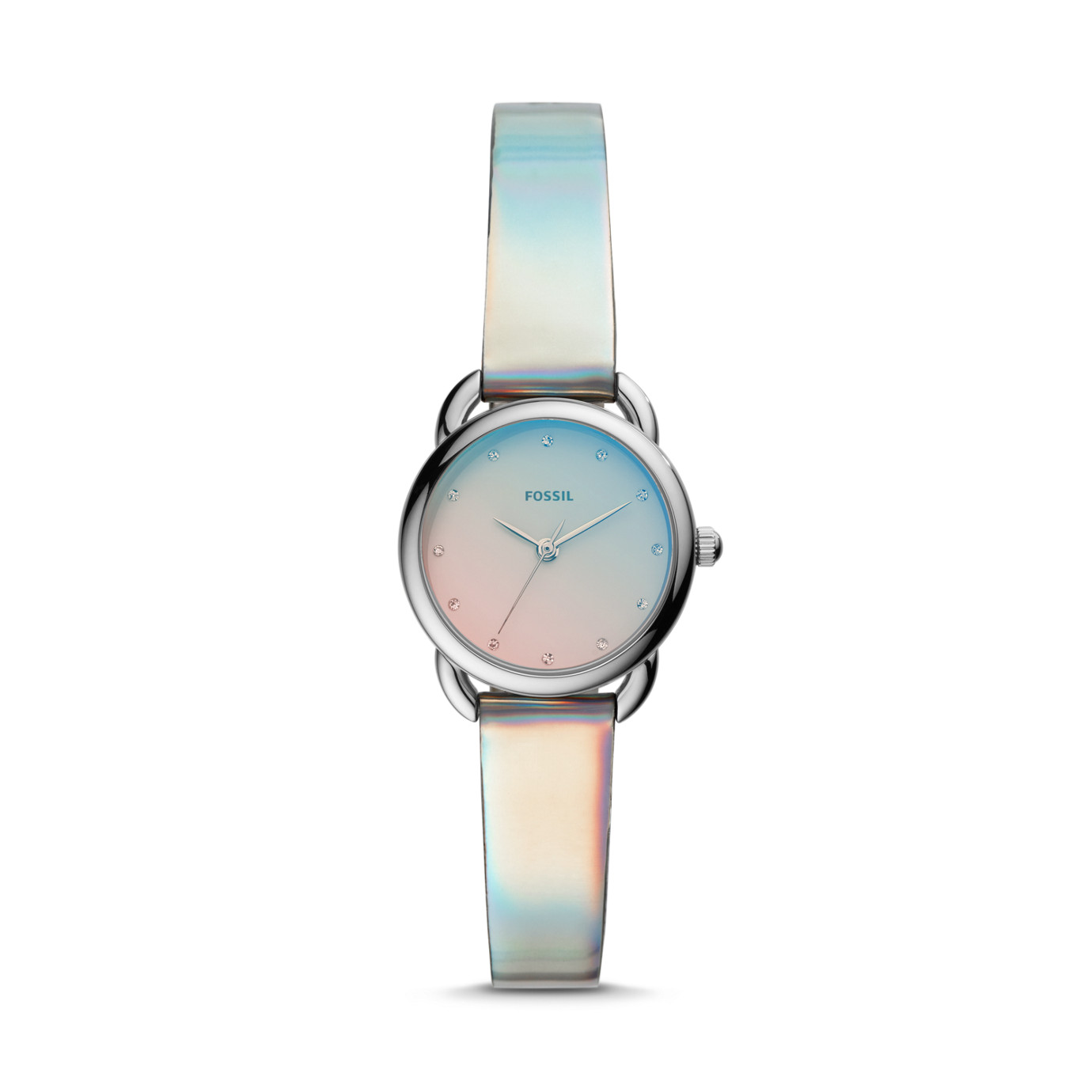 Tailor Mini Three-Hand Iridescent Polyurethane Watch