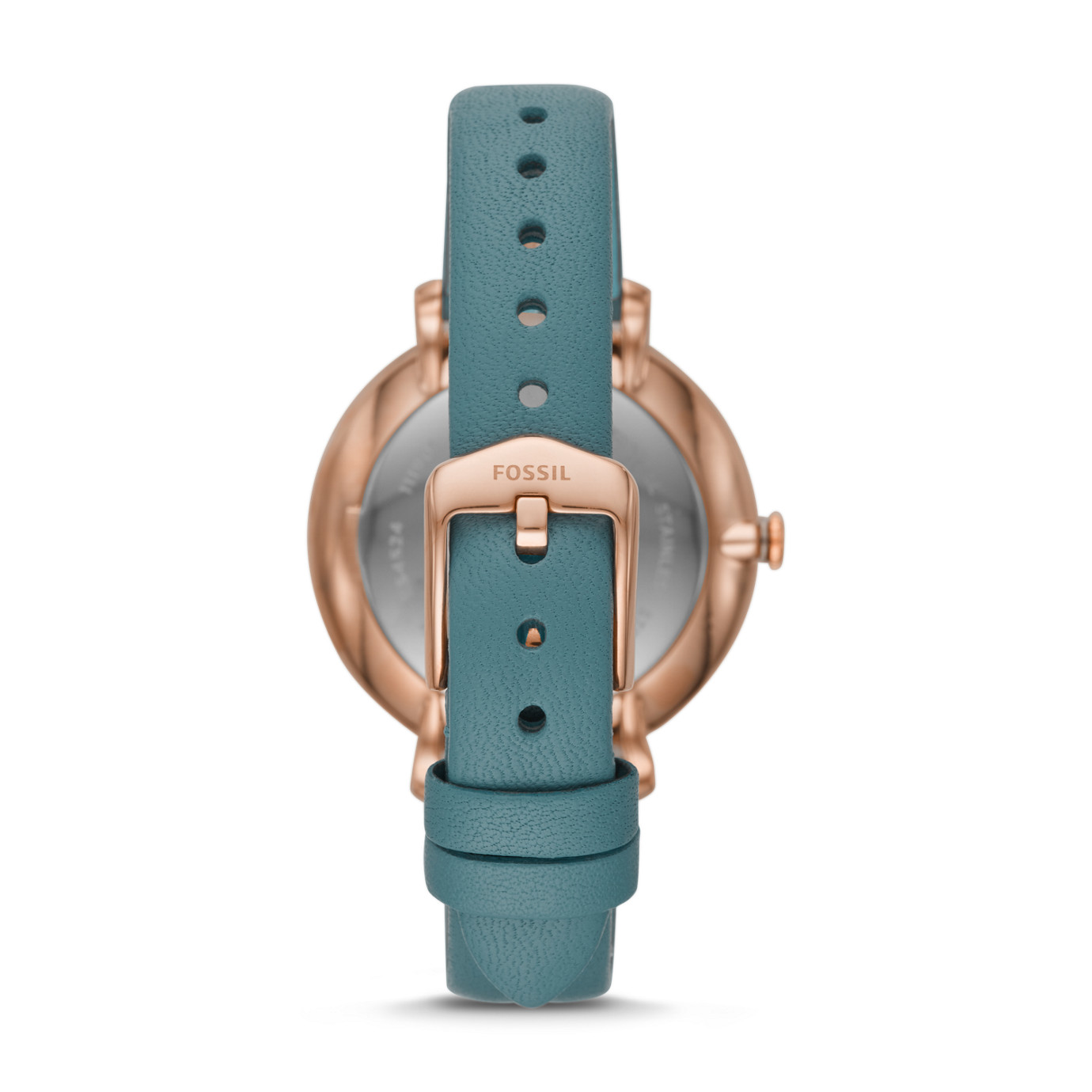 Jacqueline Three-Hand Caribbean Teal Leather Watch