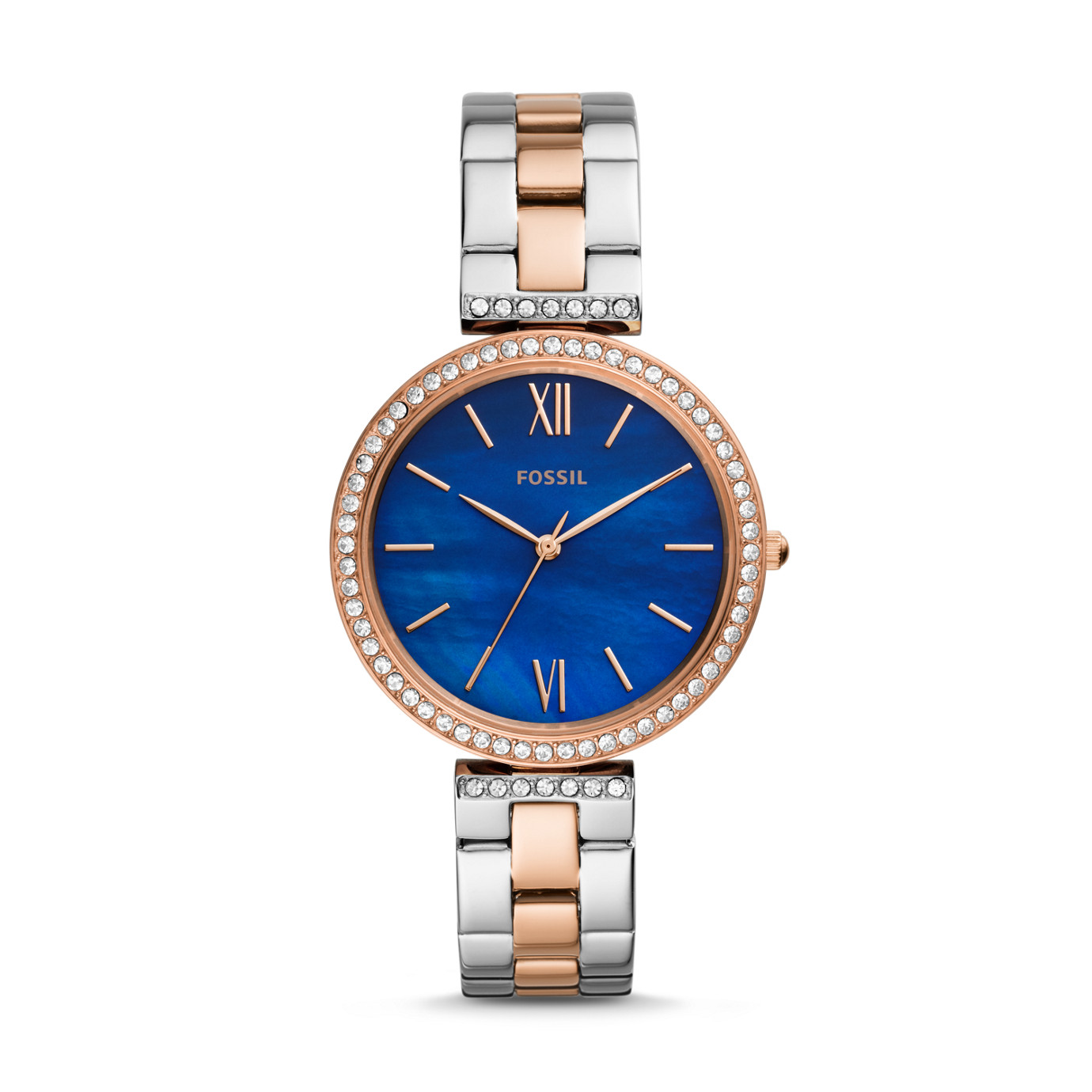Madeline Three-Hand Two-Tone Stainless Steel Watch