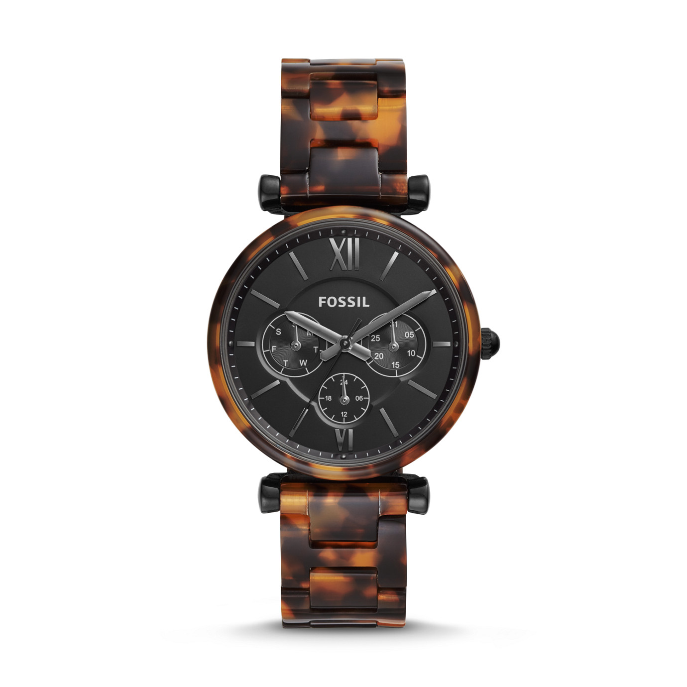 Carlie Multifunction Tortoise Acetate Watch