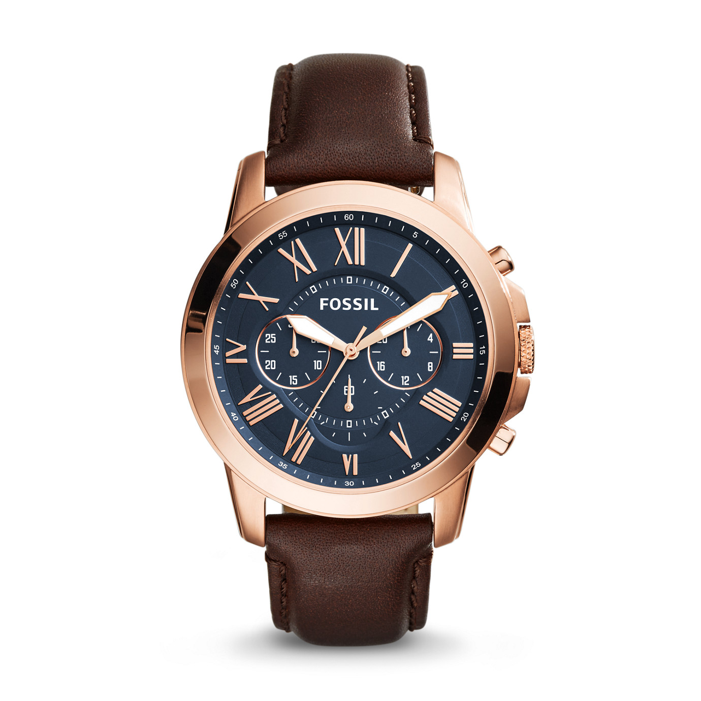 Grant Chronograph Leather Watch – Brown