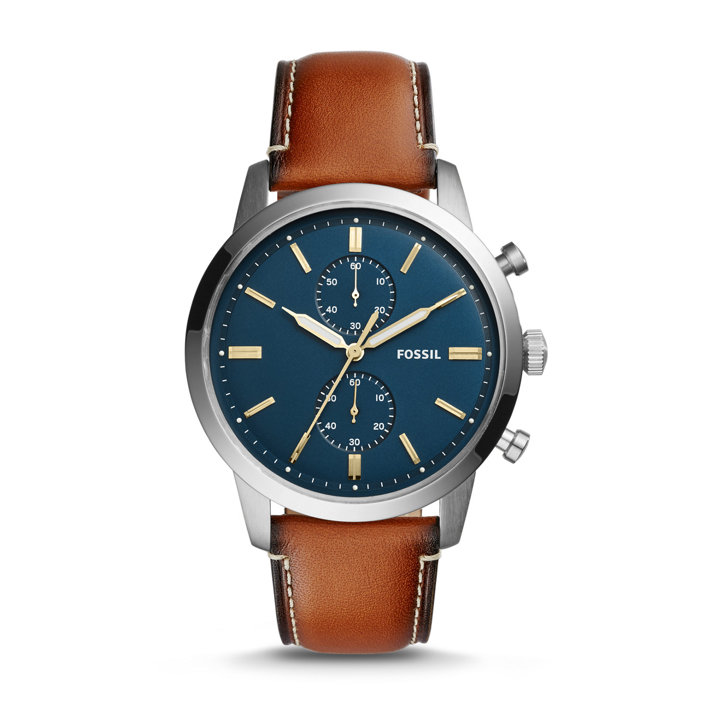 Townsman 44mm Chronograph Luggage Leather Watch