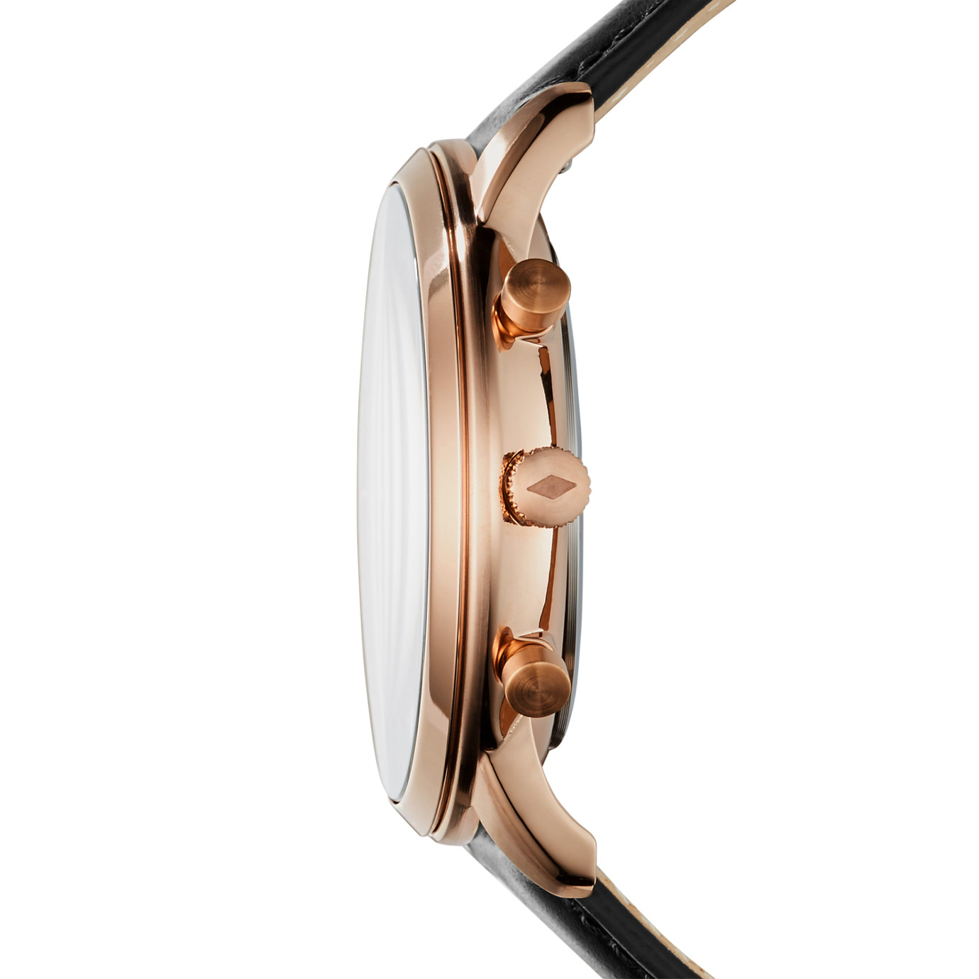 Neutra Chronograph Black Leather Watch