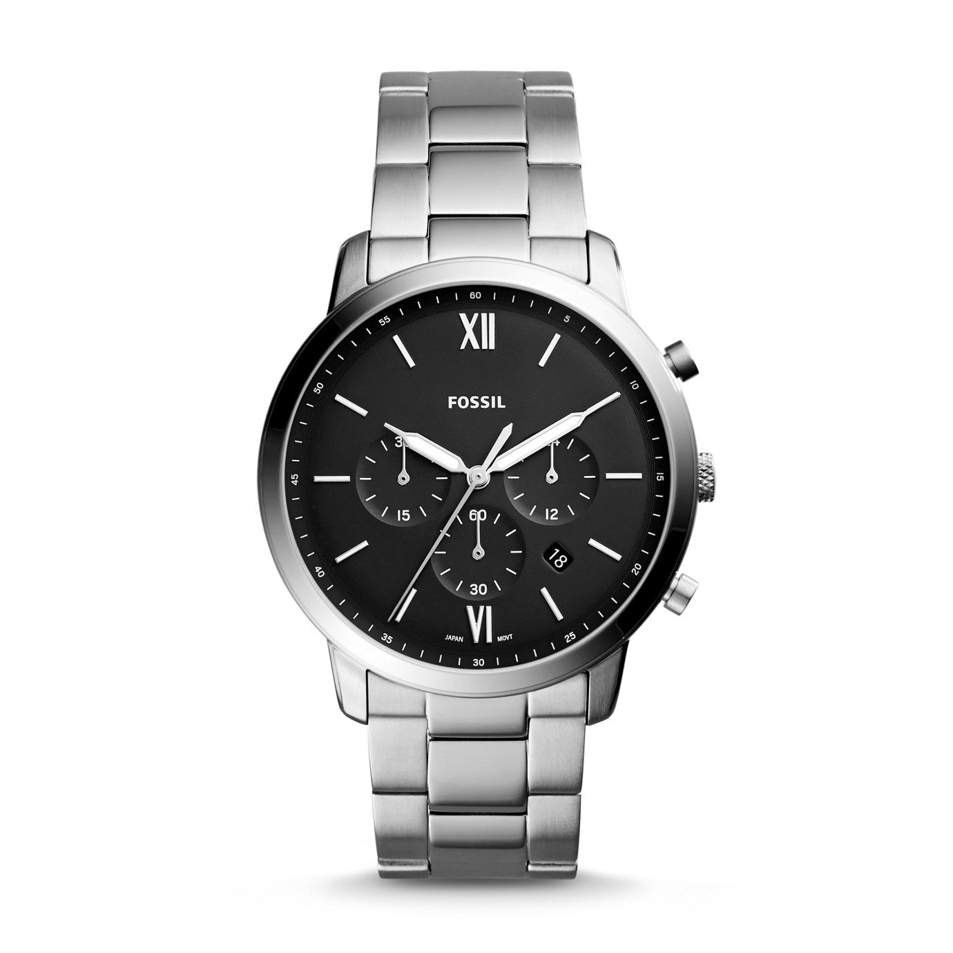 Neutra Chronograph Stainless Steel Leather Watch
