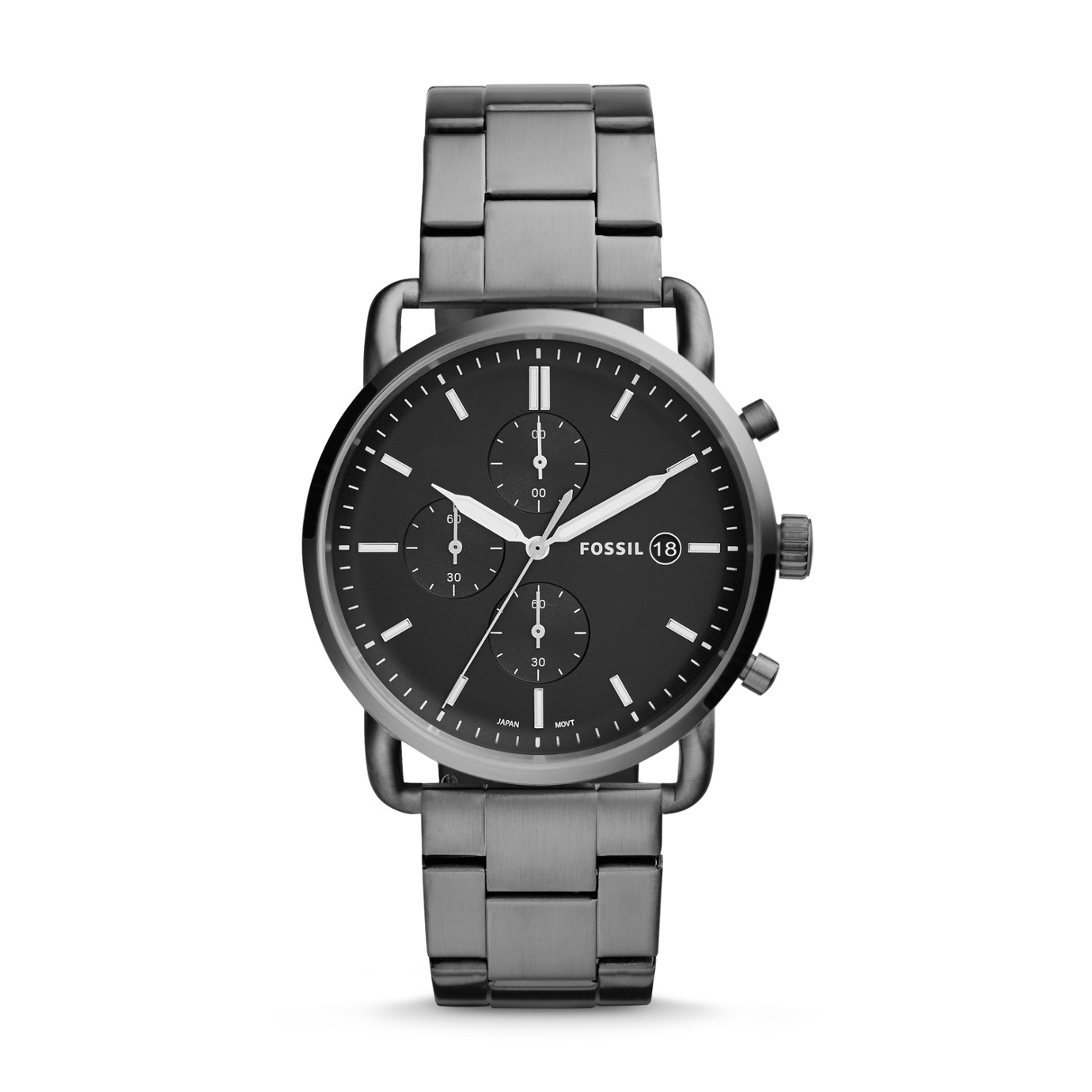 The Commuter Chronograph Smoke Stainless Steel Watch
