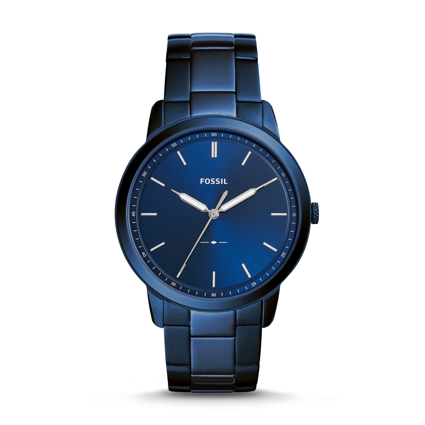 The Minimalist Three-Hand Ocean Blue Stainless Steel Watch