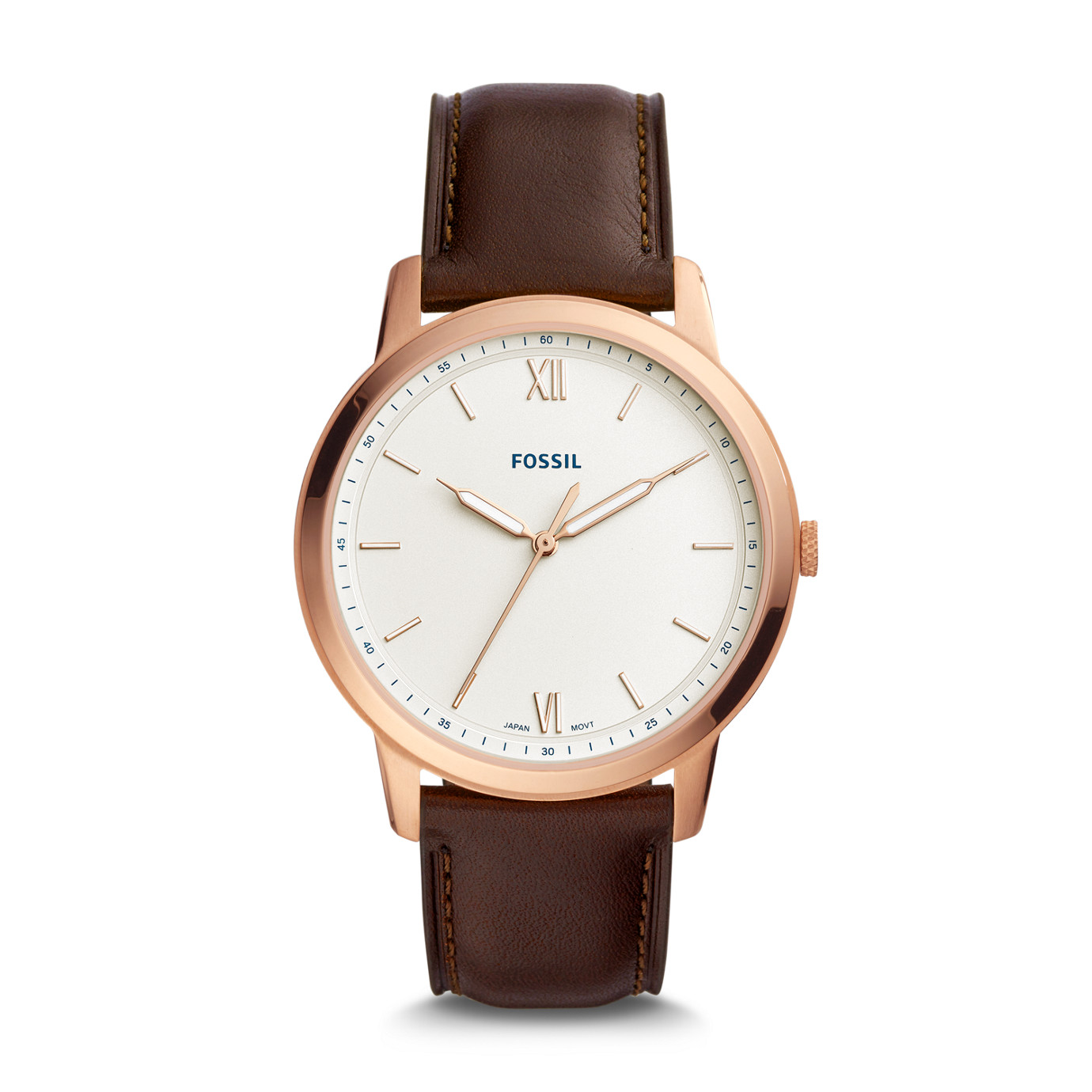 The Minimalist Three-Hand Java Leather Watch