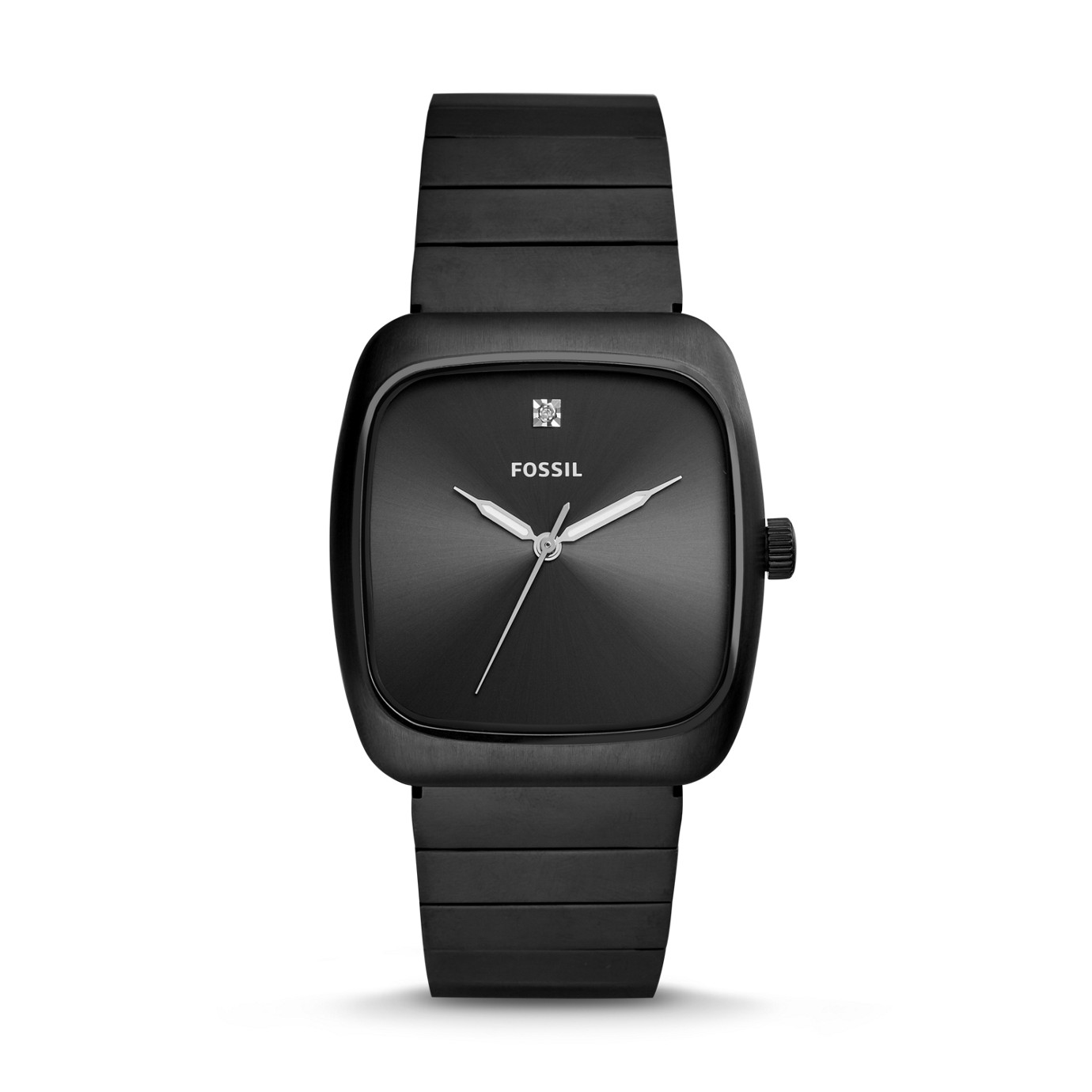 Rutherford Carbon Series Black Stainless Steel Watch