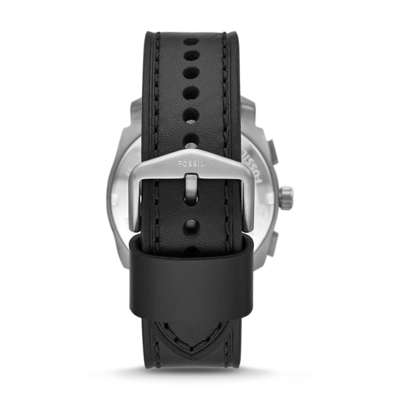 Machine Chronograph Black Leaher Watch