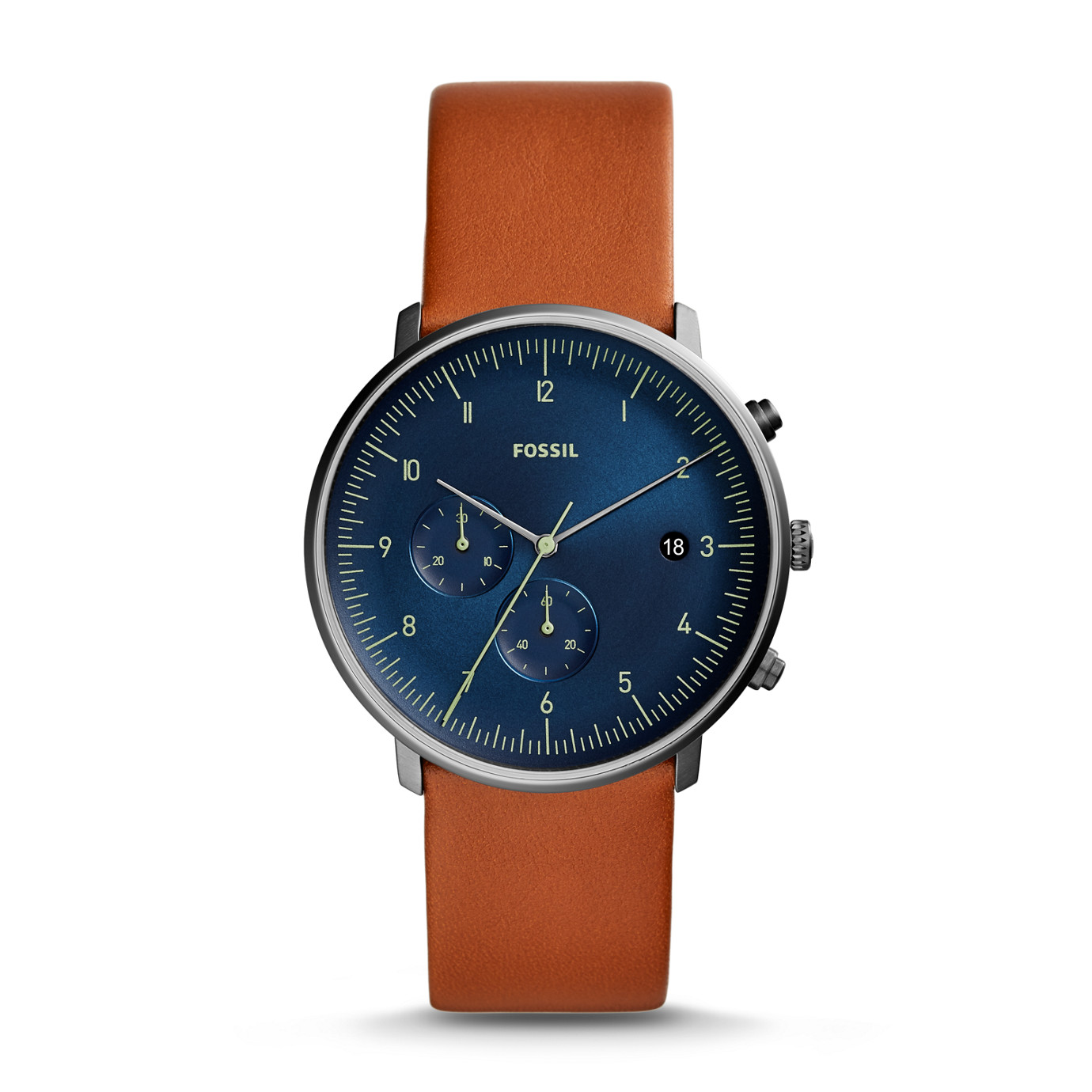 Chase Timer Chronograph Luggage Leather Watch