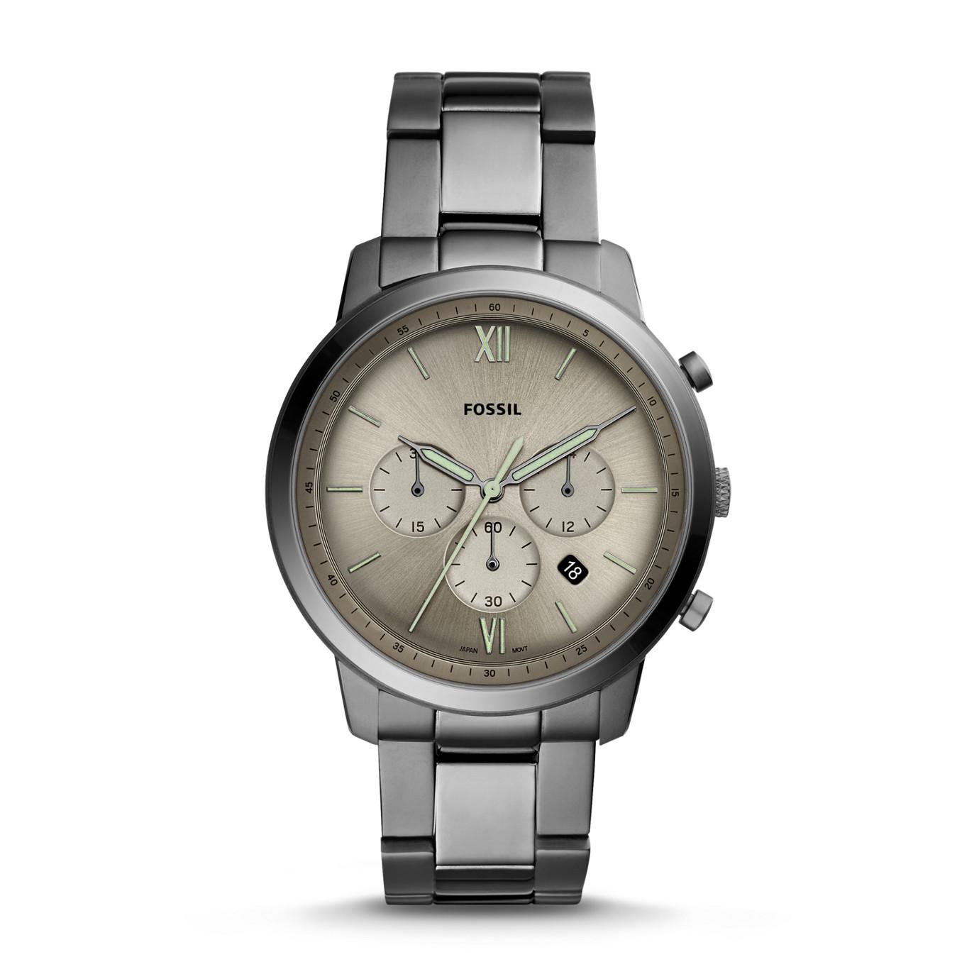 Neutra 系列煙灰色不鏽鋼計時手錶