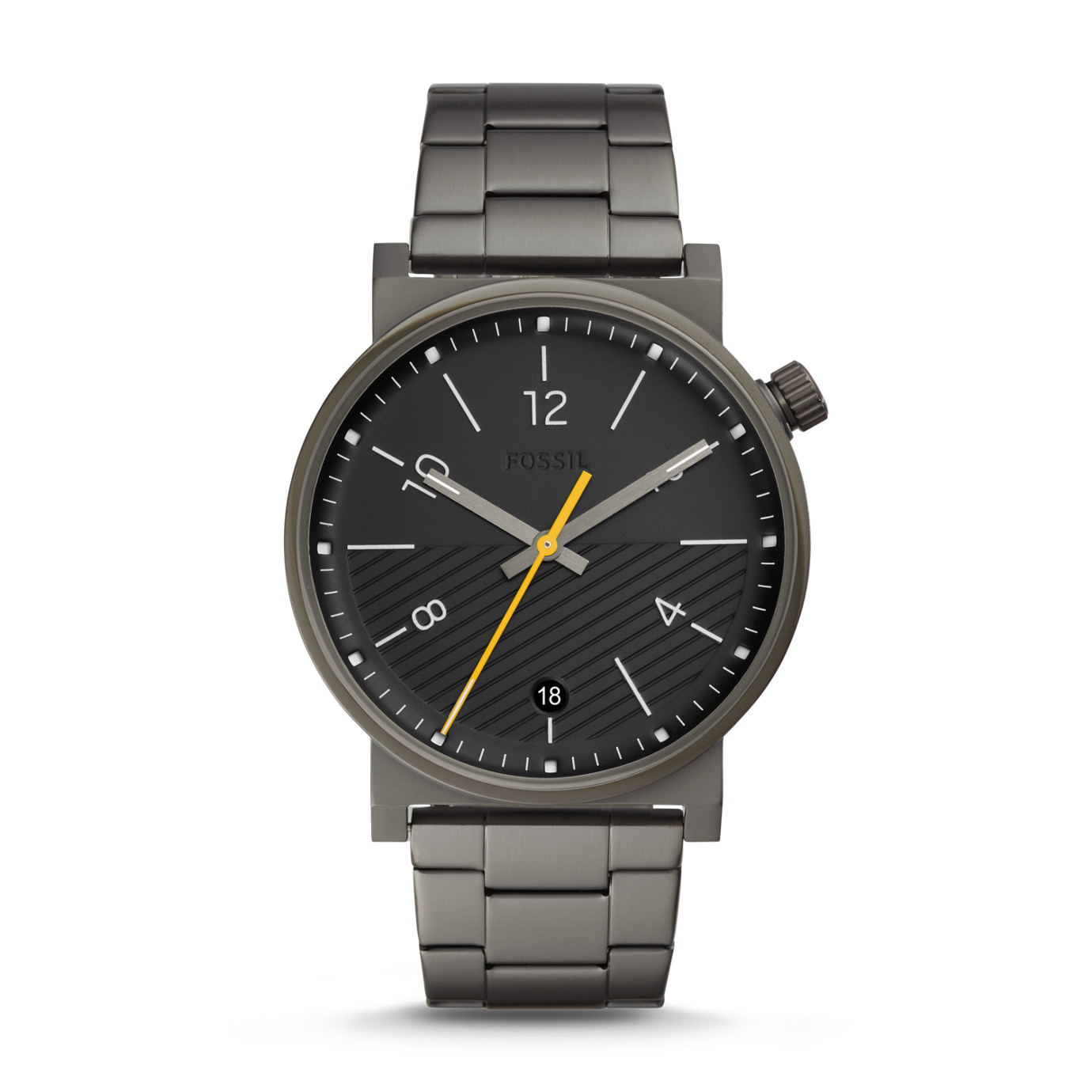 Barstow Three-Hand Smoke Stainless Steel Watch