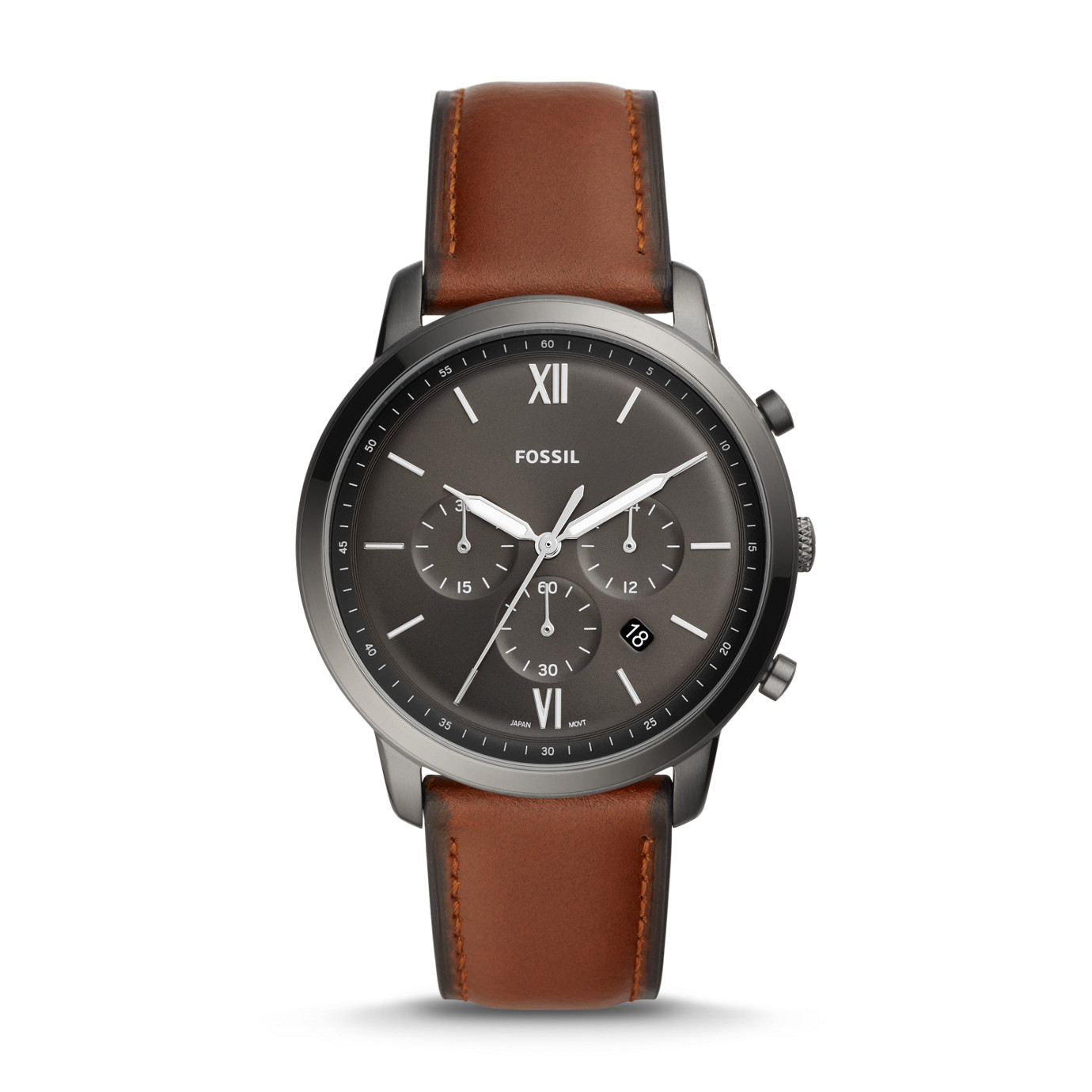 Neutra Chronograph Amber Leather Watch