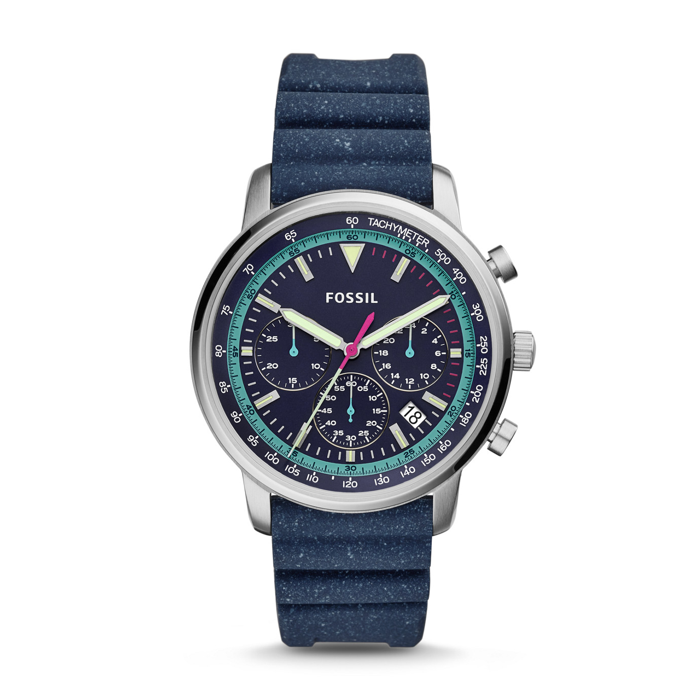 Goodwin Chronograph Navy Silicone Watch