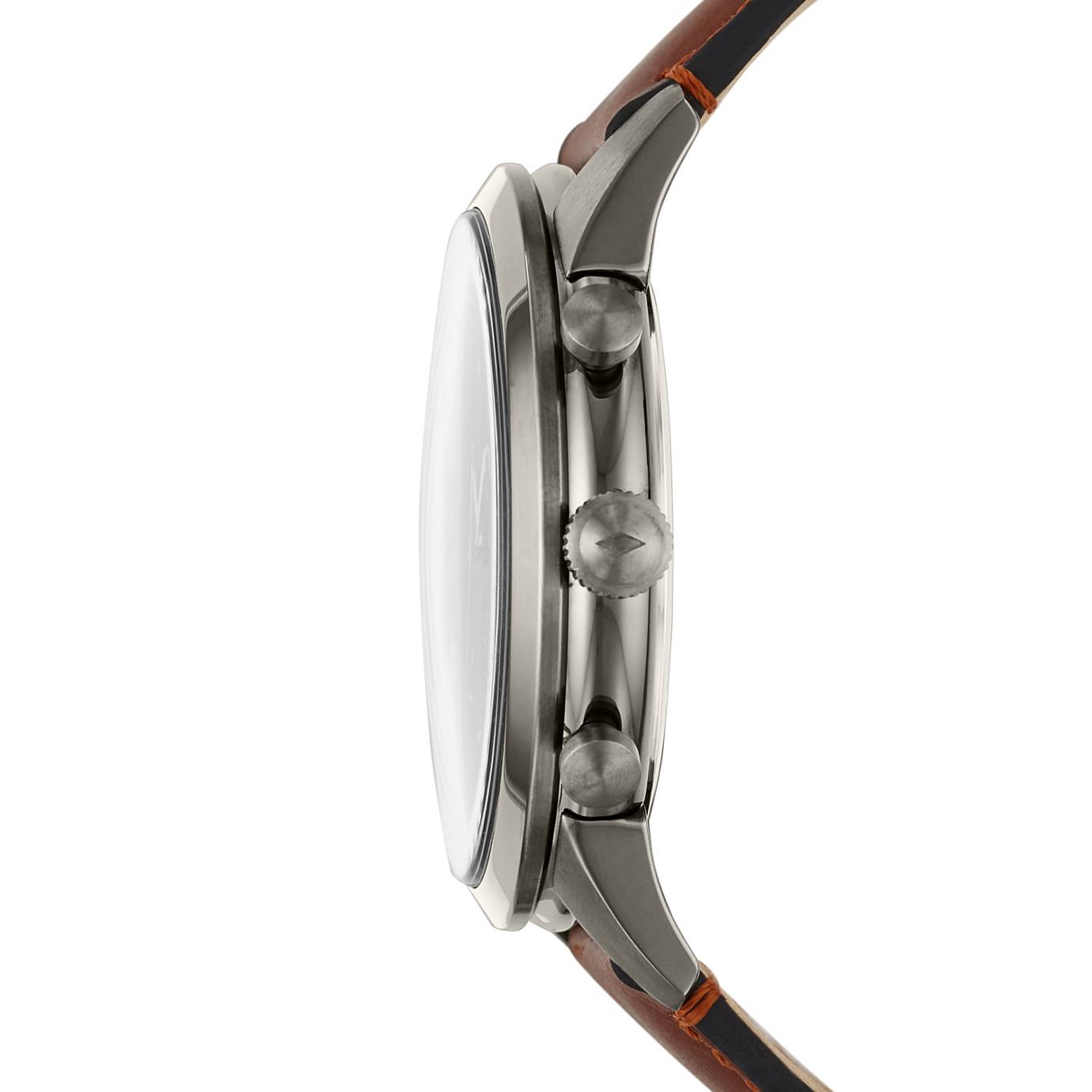 Townsman Chronograph Amber Leather Watch