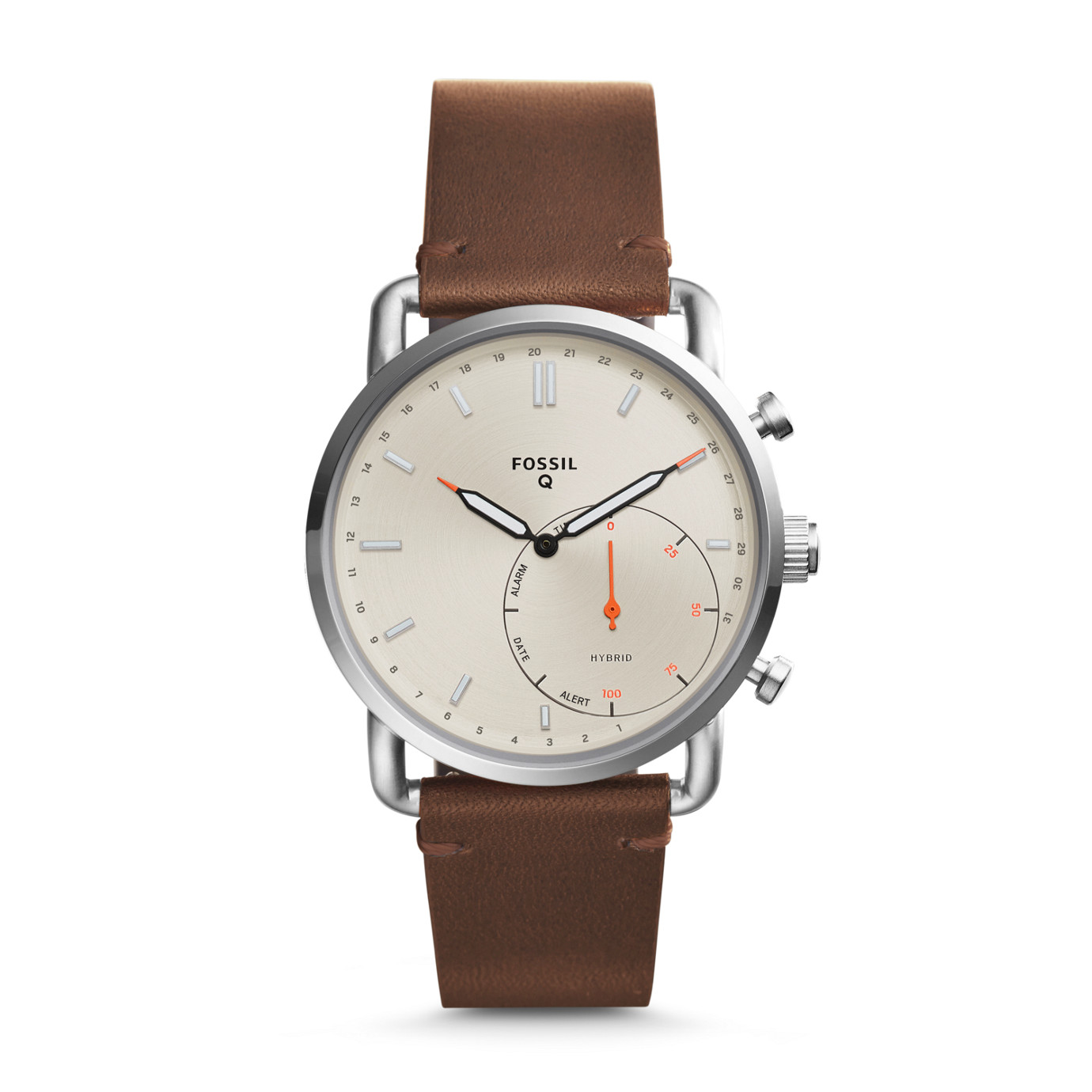 Hybrid Smartwatch - Commuter Dark Brown Leather