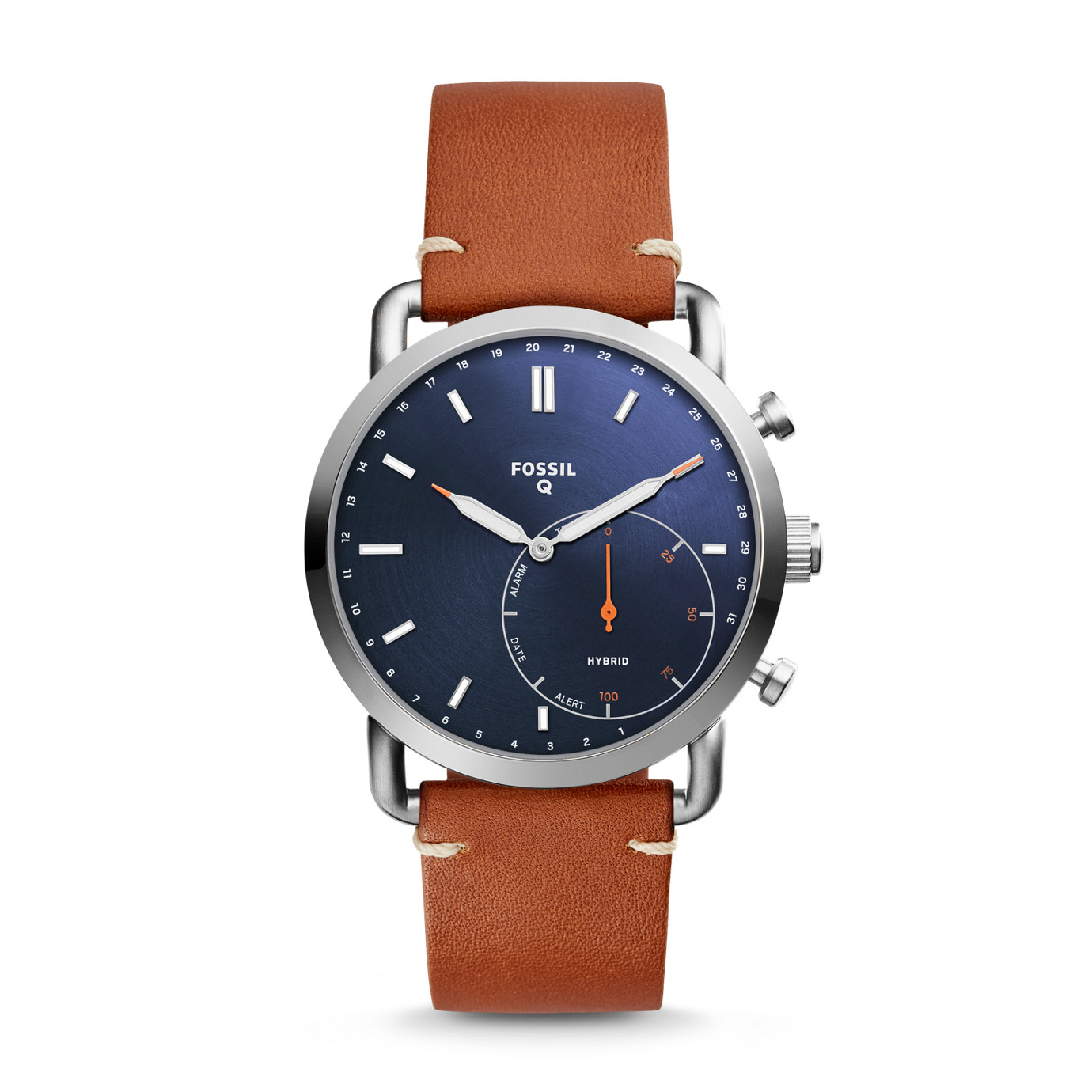 Hybrid Smartwatch - Q Commuter Luggage Leather