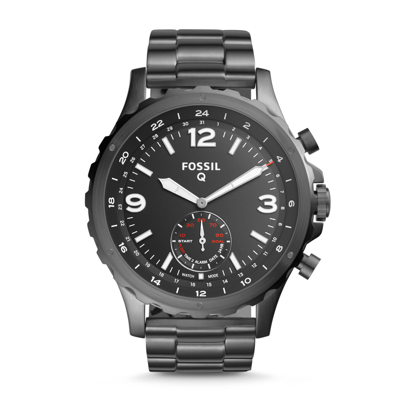 Hybrid Smartwatch - Q Nate Smoke Stainless Steel