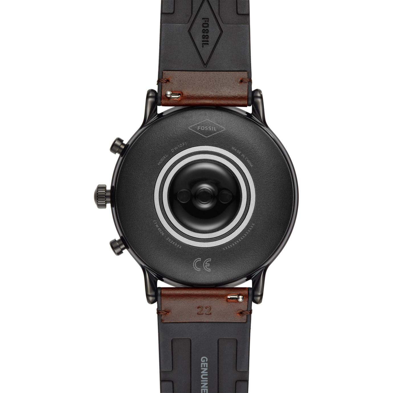 Gen 5 Smartwatch - The Carlyle HR Dark Brown Leather