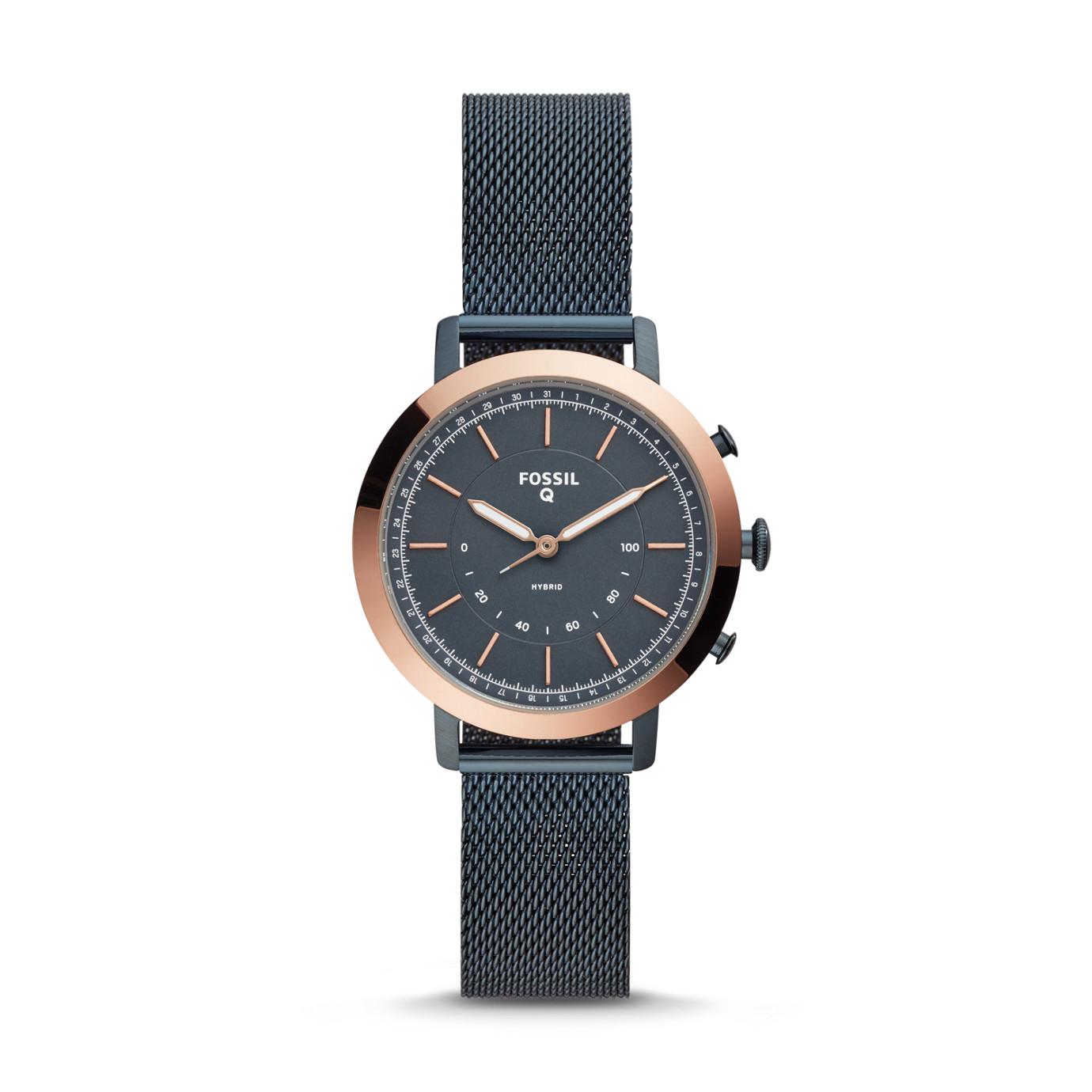 Hybrid Smartwatch - Neely Navy Stainless Steel