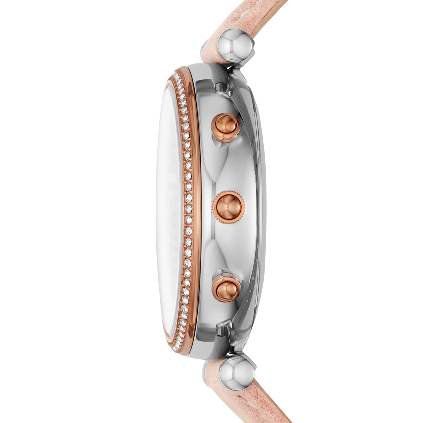 Hybrid Smartwatch - Carlie Blush Leather