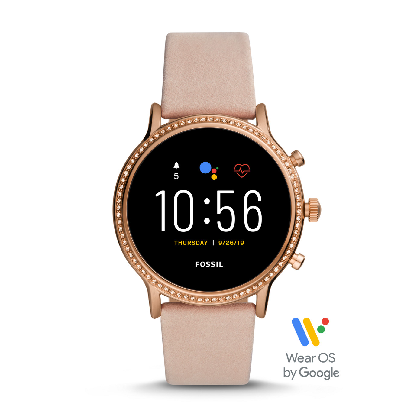 Gen 5 Smartwatch - Julianna HR Blush Leather