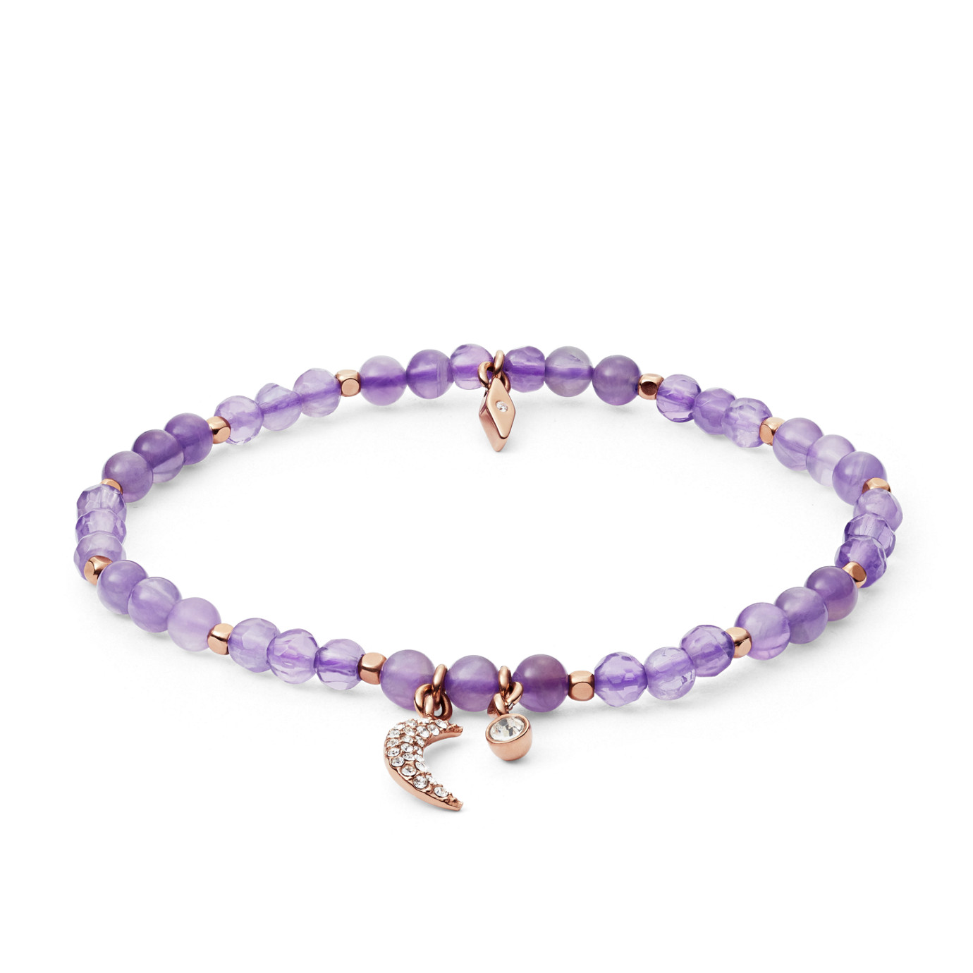 Wellness Purple Semi-Precious Bracelet