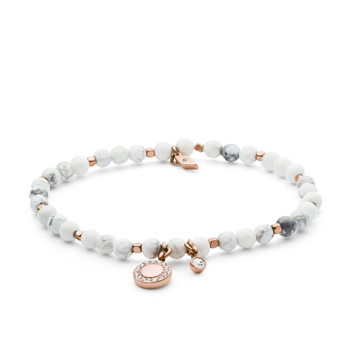 Wellness White Semi-Precious Bracelet