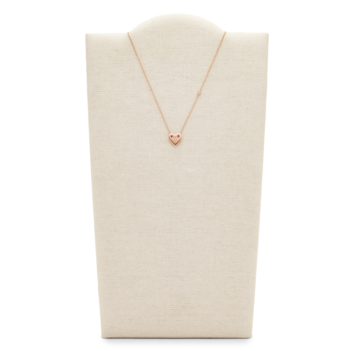 Heart Rose Gold-Tone Steel Necklace