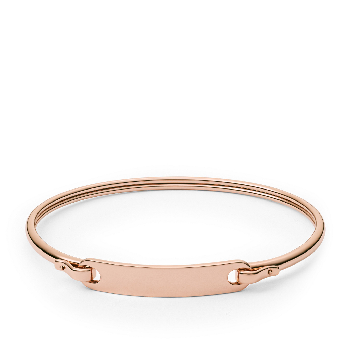 Plaque Rose Gold-Tone Steel Bracelet