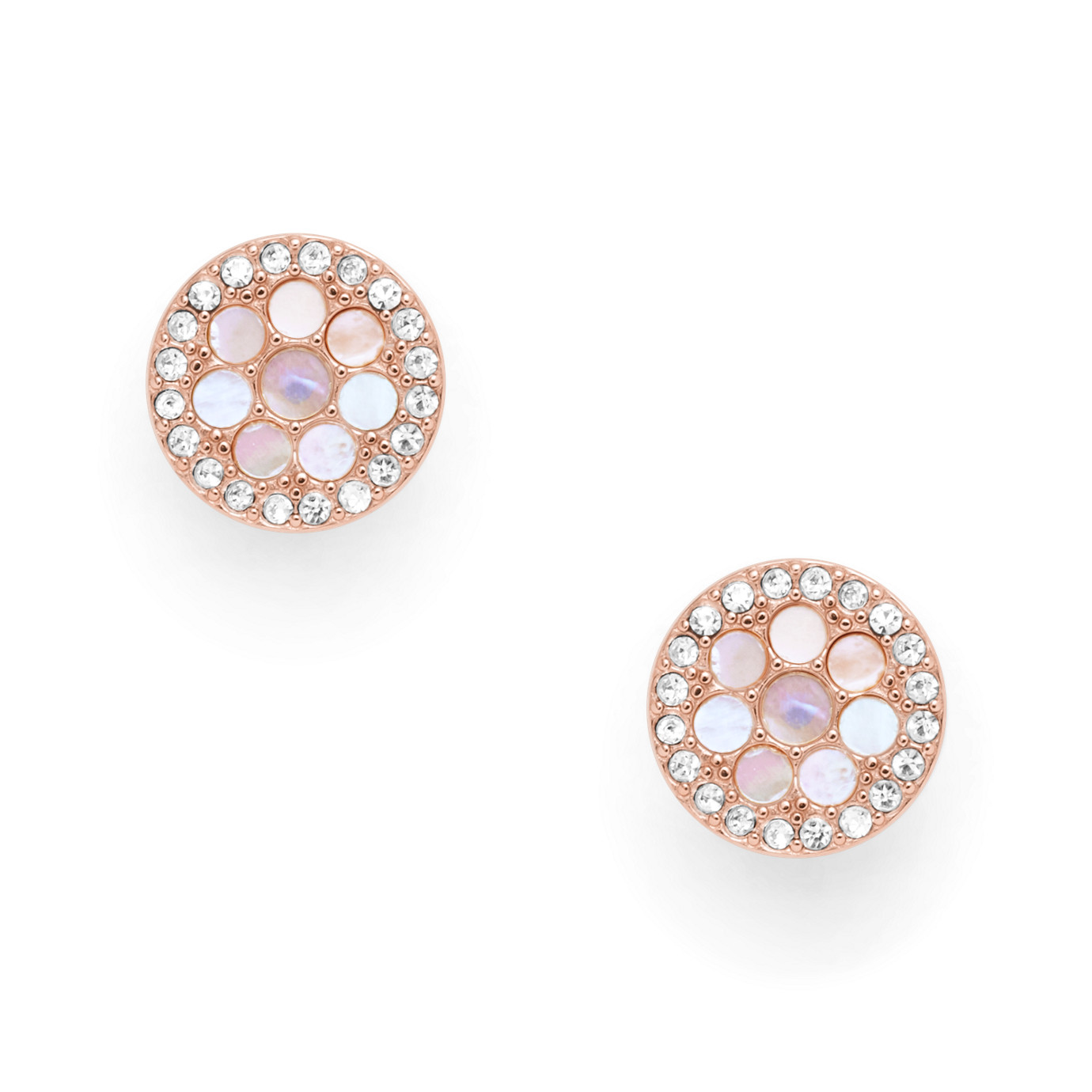 Disc Mother-of-Pearl Studs