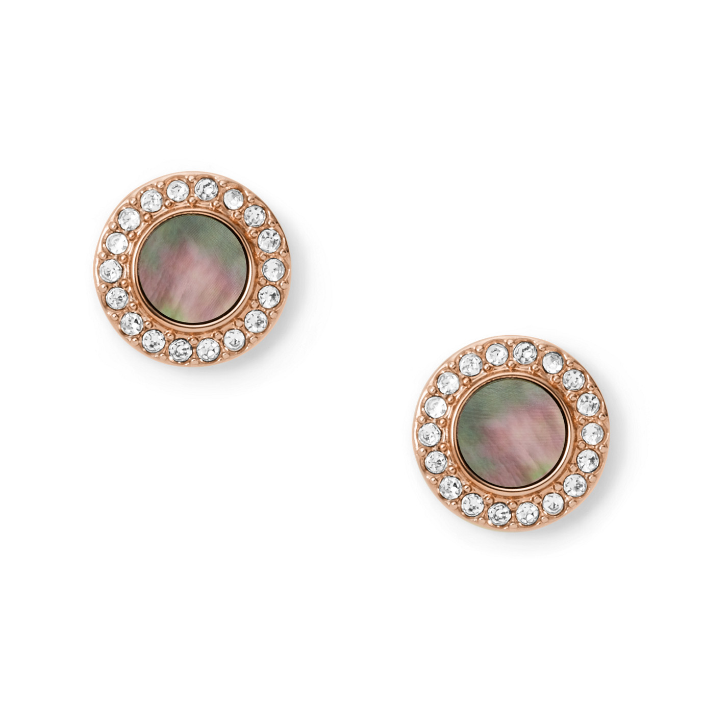 Gray Mother-Of-Pearl Glitz Studs