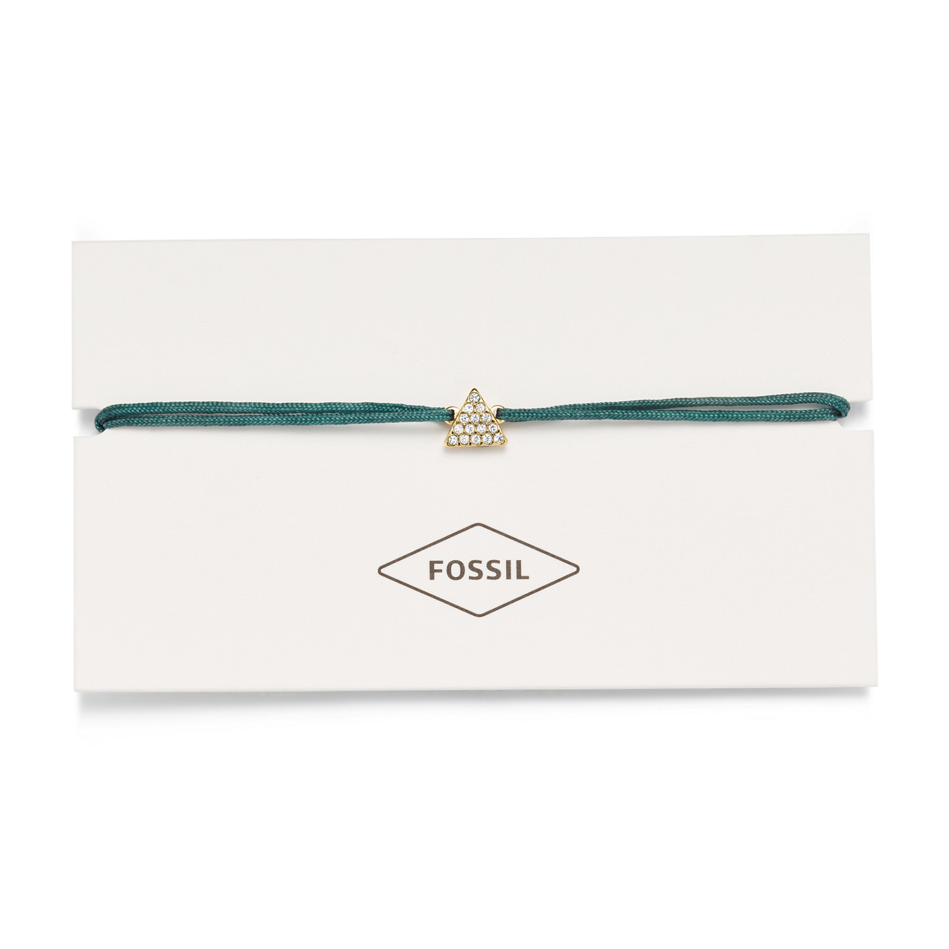 Triangle Green Nylon Bracelet