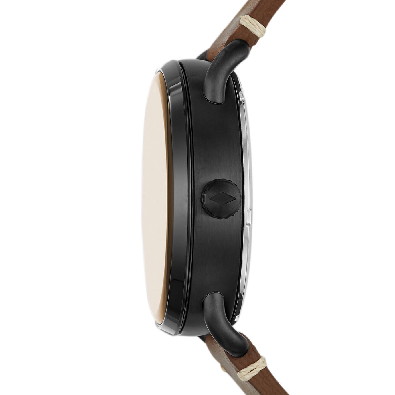 Commuter 自動棕色真皮手錶系列