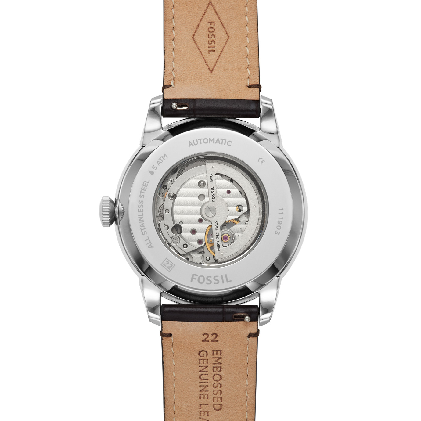 Townsman Automatic Brown Croco Leather Watch