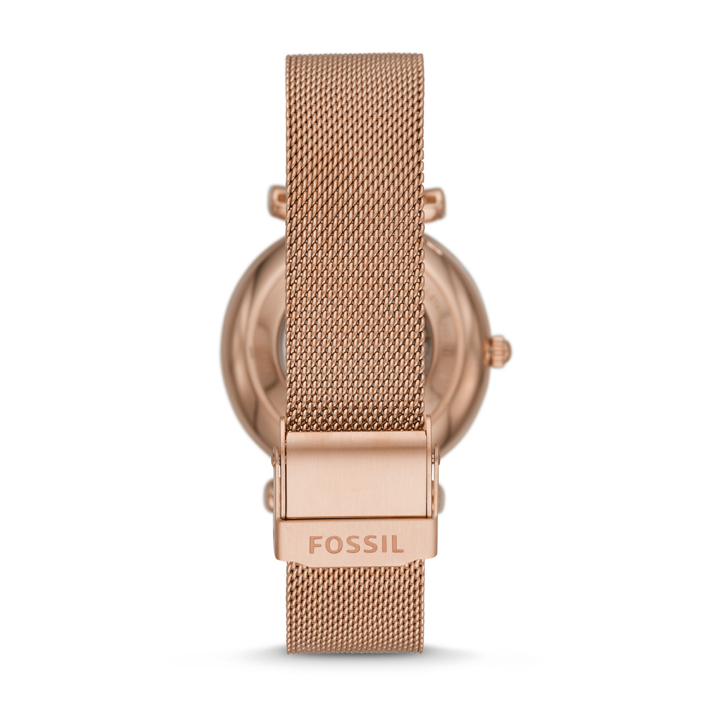 Carlie Automatic Rose Gold-Tone Stainless Steel Mesh Watch