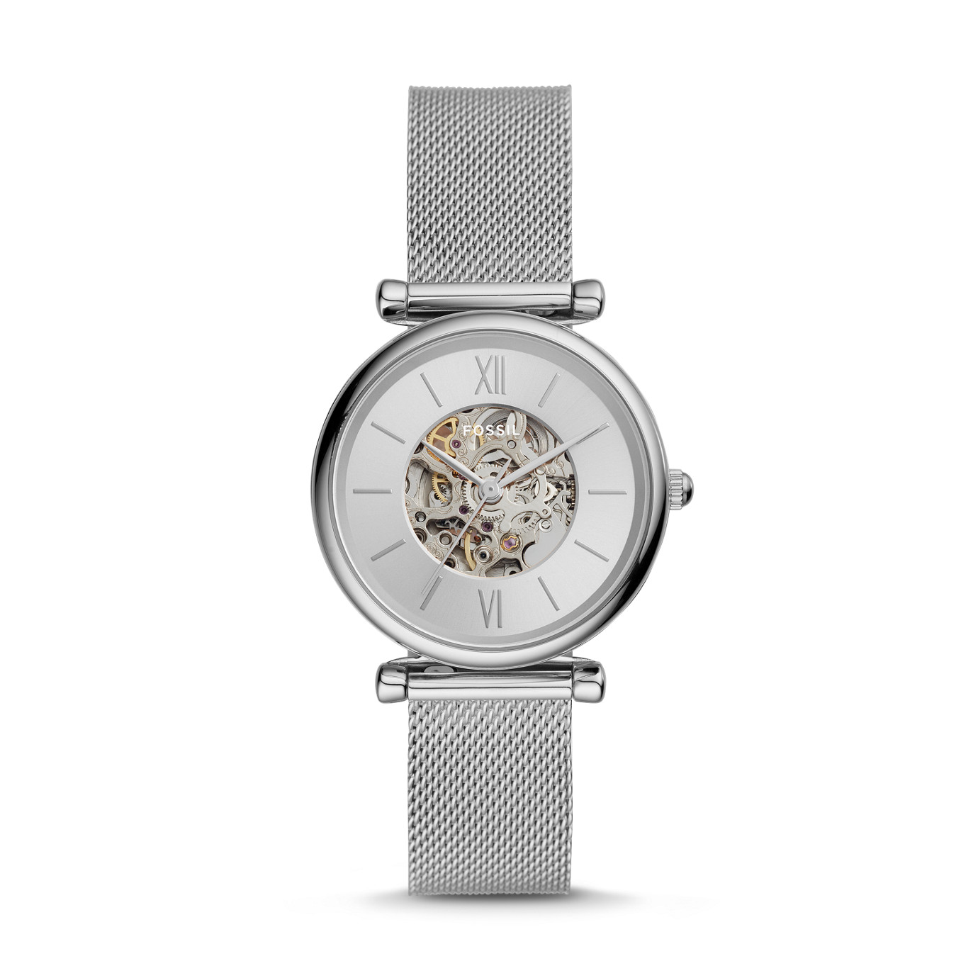 Carlie Automatic Stainless Steel Mesh Watch