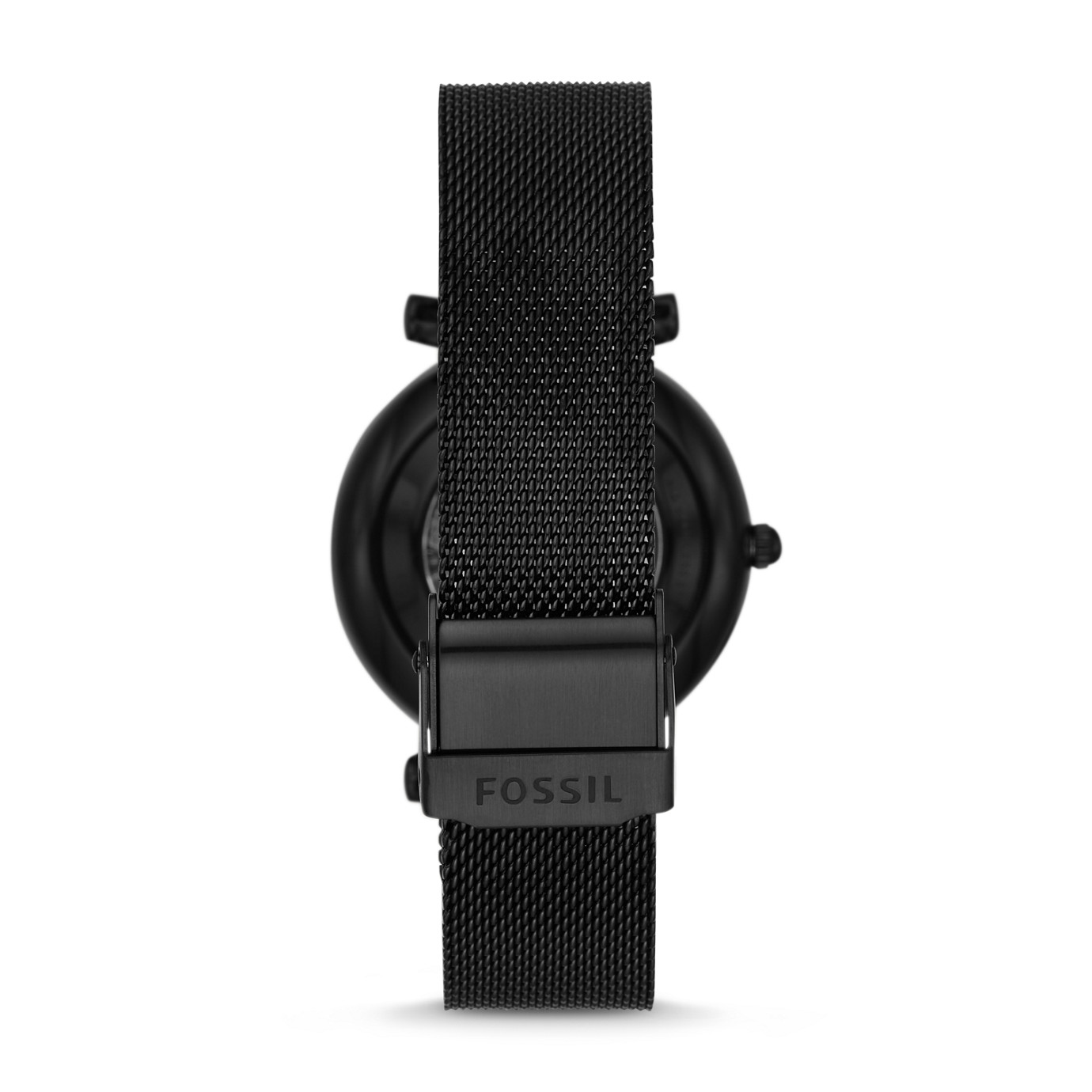 Carlie Automatic Black Stainless Steel Mesh Watch